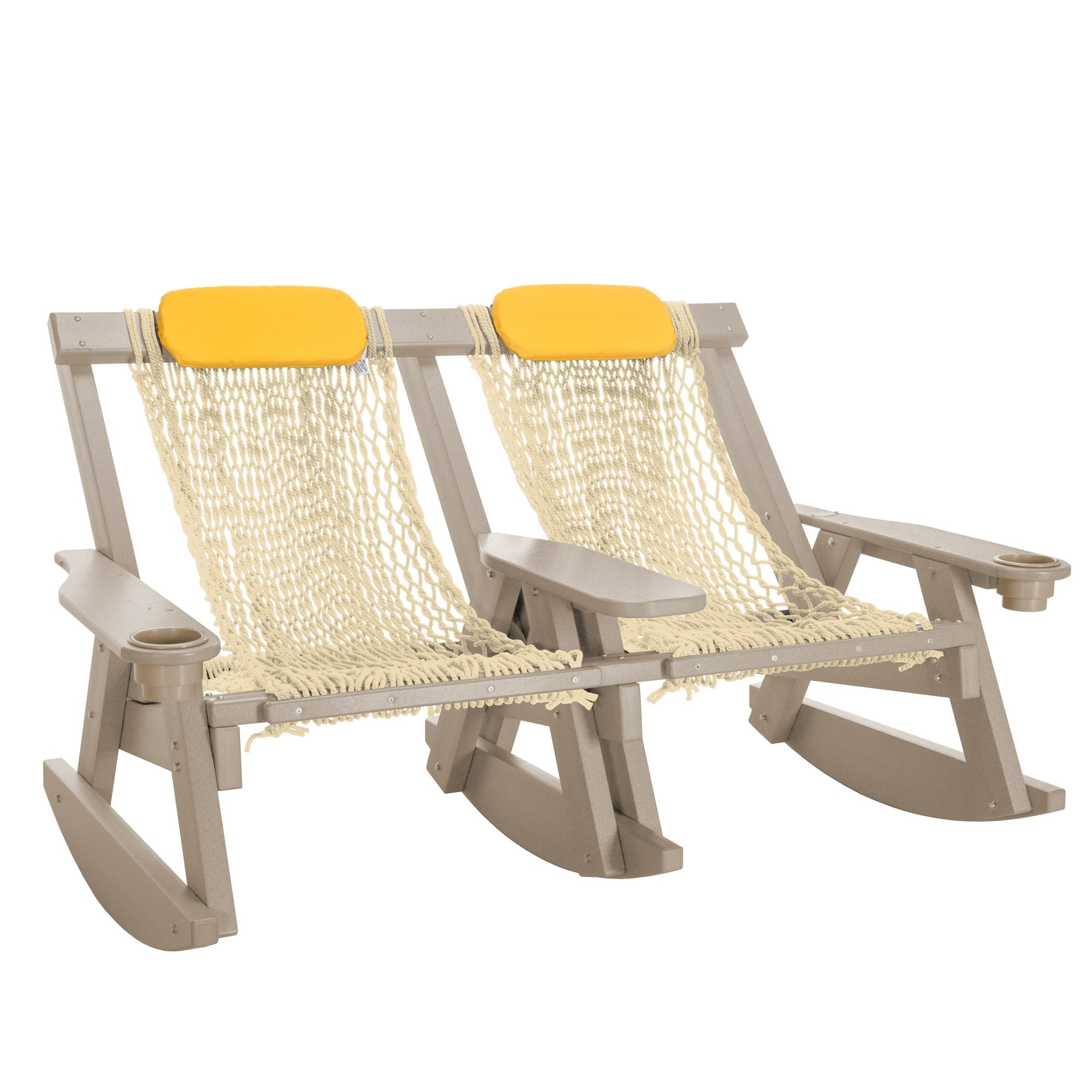 Nags Head Hammocks Durawood Rocking Chairs Weatherwood Double With Famous Yellow Outdoor Rocking Chairs (View 20 of 20)