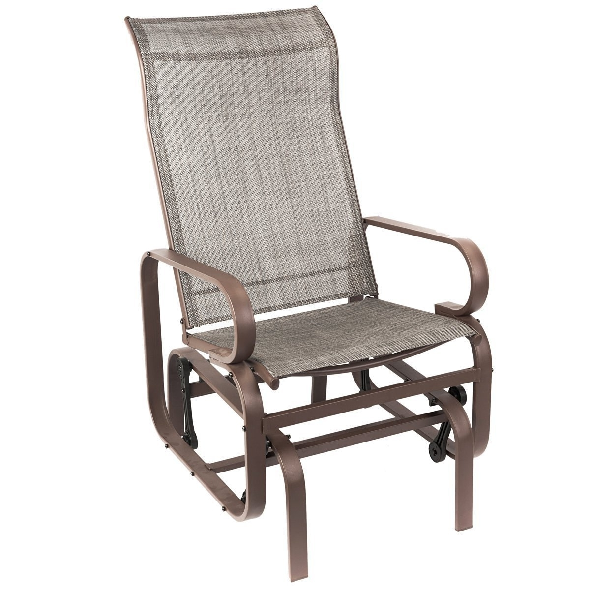 Naturefun Outdoor Patio Rocker Chair, Balcony Glider Rocking Lounge Within Well Known Patio Rocking Chairs With Covers (Gallery 2 of 20)
