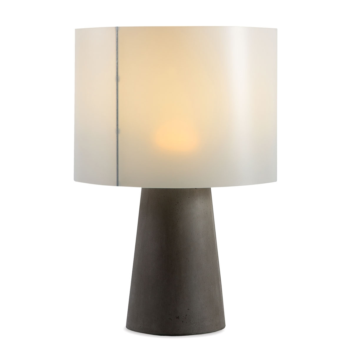 Newest Cordless Living Room Table Lamps Inside Inda Outdoor Cordless Concrete Table Lamp Dark Gray (View 3 of 20)