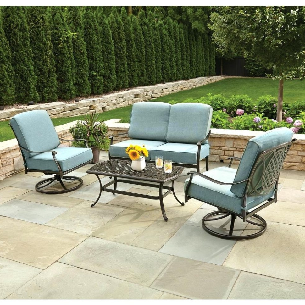 Newest Martha Stewart Conversation Patio Sets For Patio : Navy Blue Patio Set Seating Martha Stewart Hill Settee (View 12 of 20)