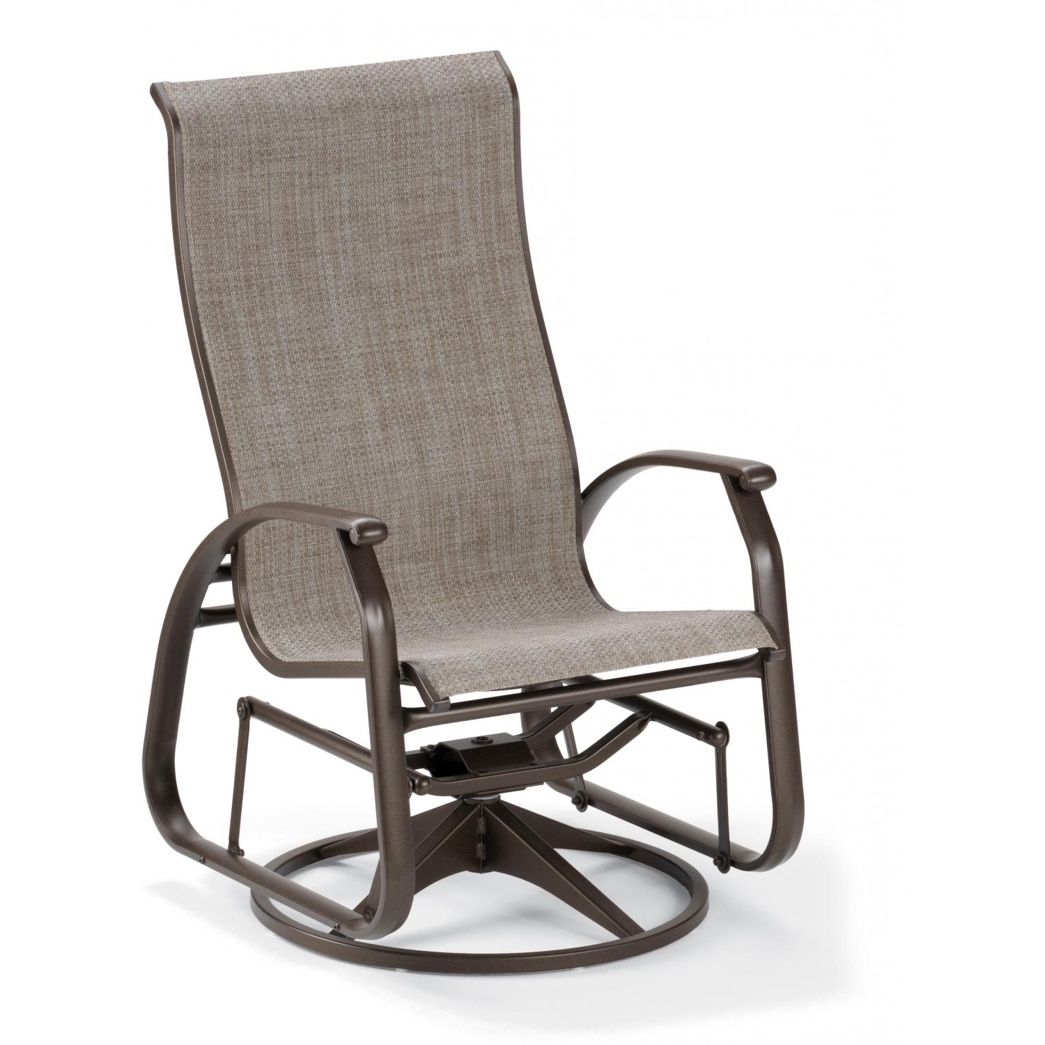 Newest Patio Sling Rocking Chairs Throughout Telescope Casual Cape May Sling Patio Supreme Swivel Glider Dining (View 8 of 20)