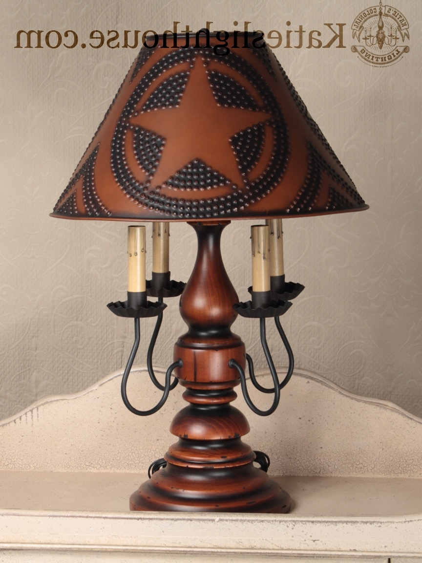Newest Primitive Living Room Table Lamps Intended For Country Table Lamps Living Room Elegant Primitive Lighting – Living (View 3 of 20)