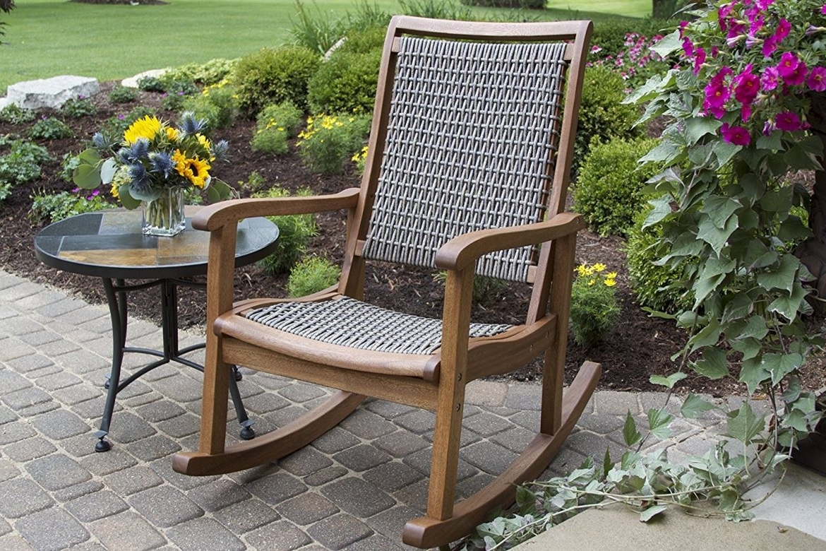 Newest The Best Styles Of Outdoor Rocking Chairs (styles, Designs, Options In Brown Wicker Patio Rocking Chairs (View 4 of 20)