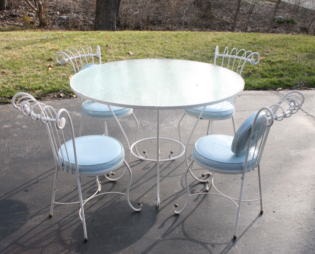 Newest White Wrought Iron Patio Furniture Dining Home Design Ideas In Decor With Regard To Wrought Iron Patio Conversation Sets (View 18 of 20)