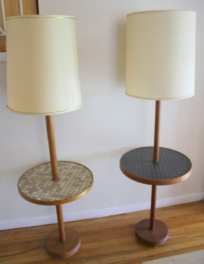 Nightstands : Living Room End Table Lamps Vintage Decoration And Regarding Current Vintage Living Room Table Lamps (View 12 of 20)