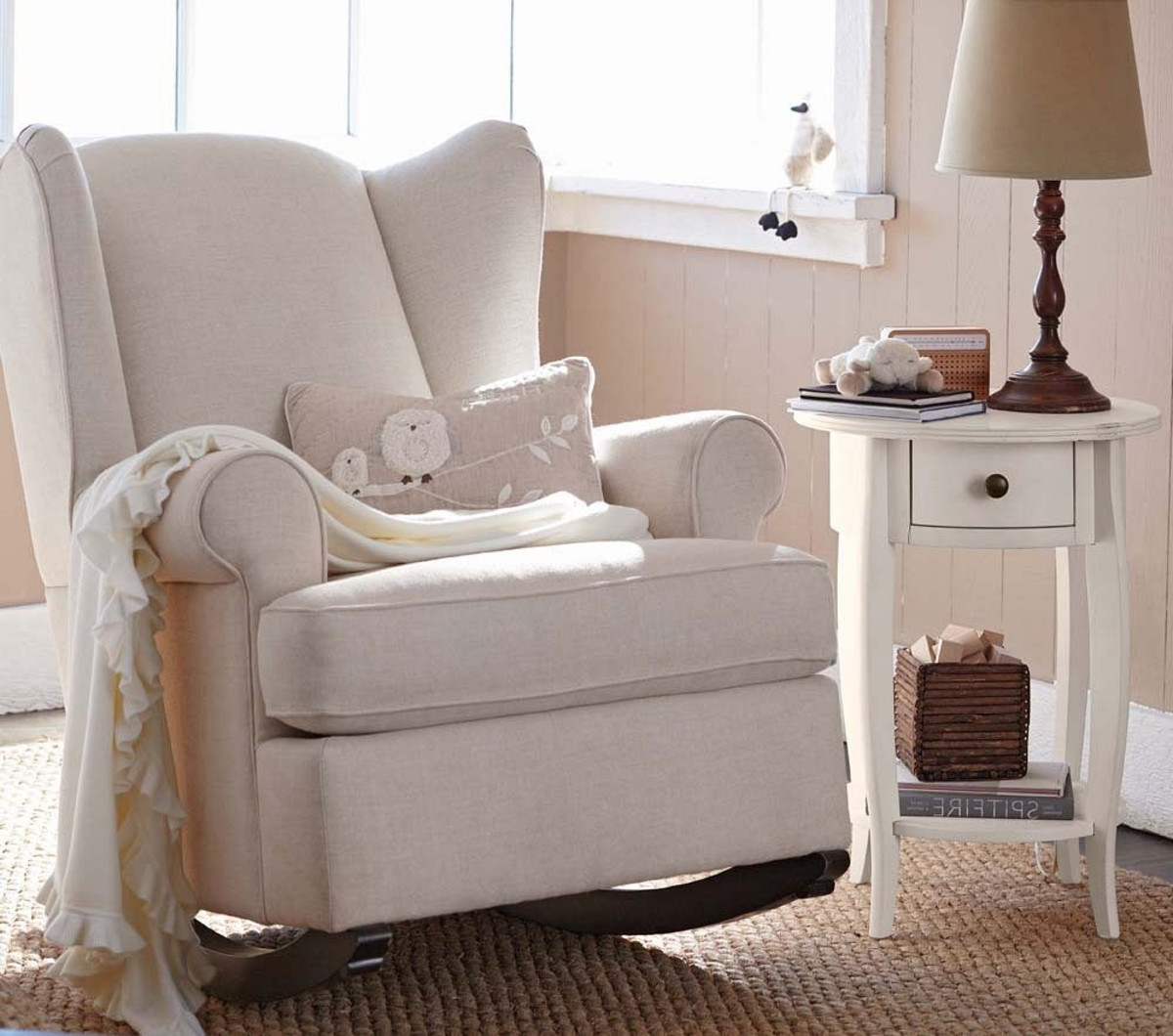 Nursery Rocking Chair White – Nursery Rocking Chair To Help Comfort For Most Recently Released Rocking Chairs For Baby Room (View 13 of 20)