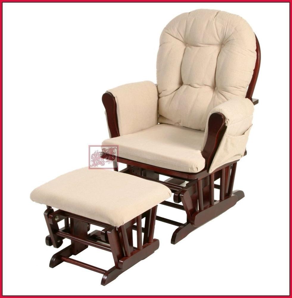 Nursing Rocker W Foot Rest Stool Rocking Chair Breastfeeding Nursery Inside Latest Rocking Chairs With Footrest (View 16 of 20)