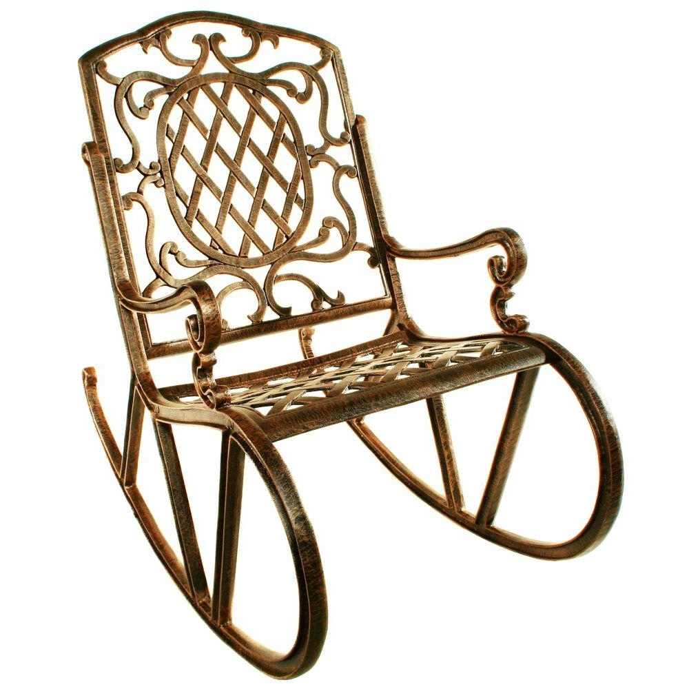Oakland Living Mississippi Patio Rocking Chair 2114 Ab – The Home Depot Regarding Well Known Manhattan Patio Grey Rocking Chairs (View 8 of 20)