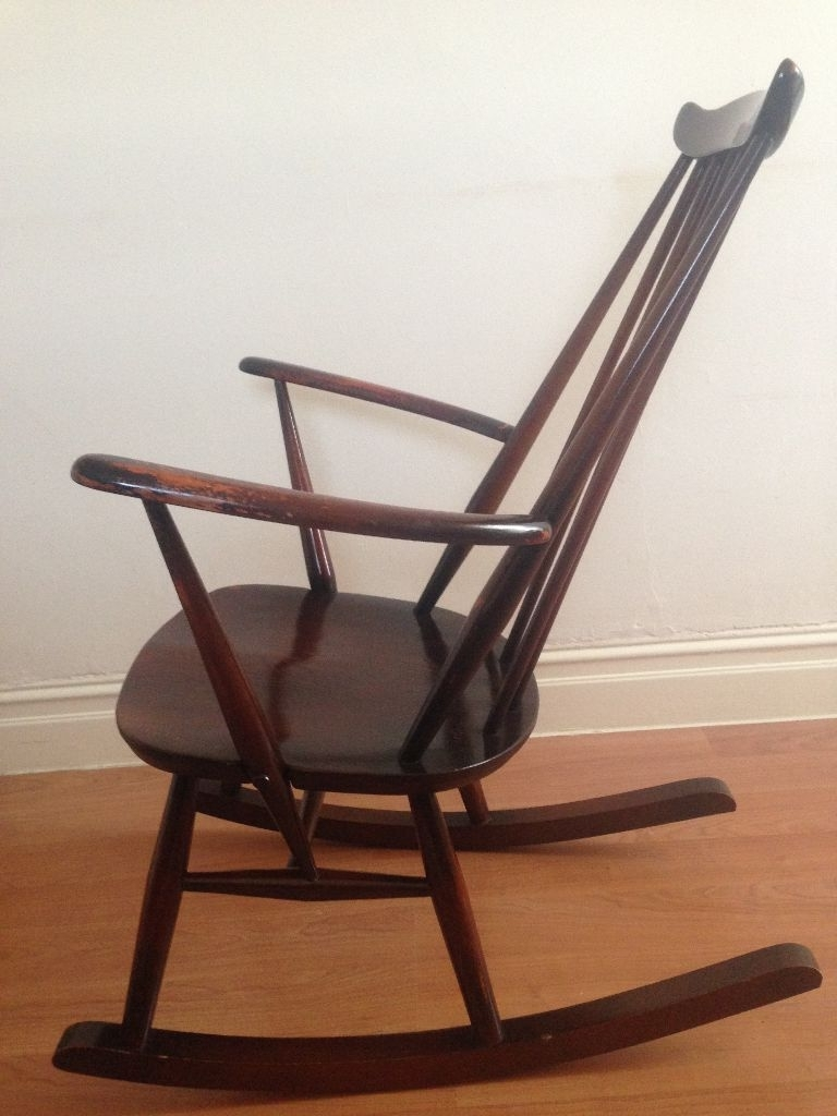 Original Mid Century Vintage Modern Ercol 'ladies' Rocking Chair Throughout Newest Rocking Chairs At Gumtree (View 14 of 20)