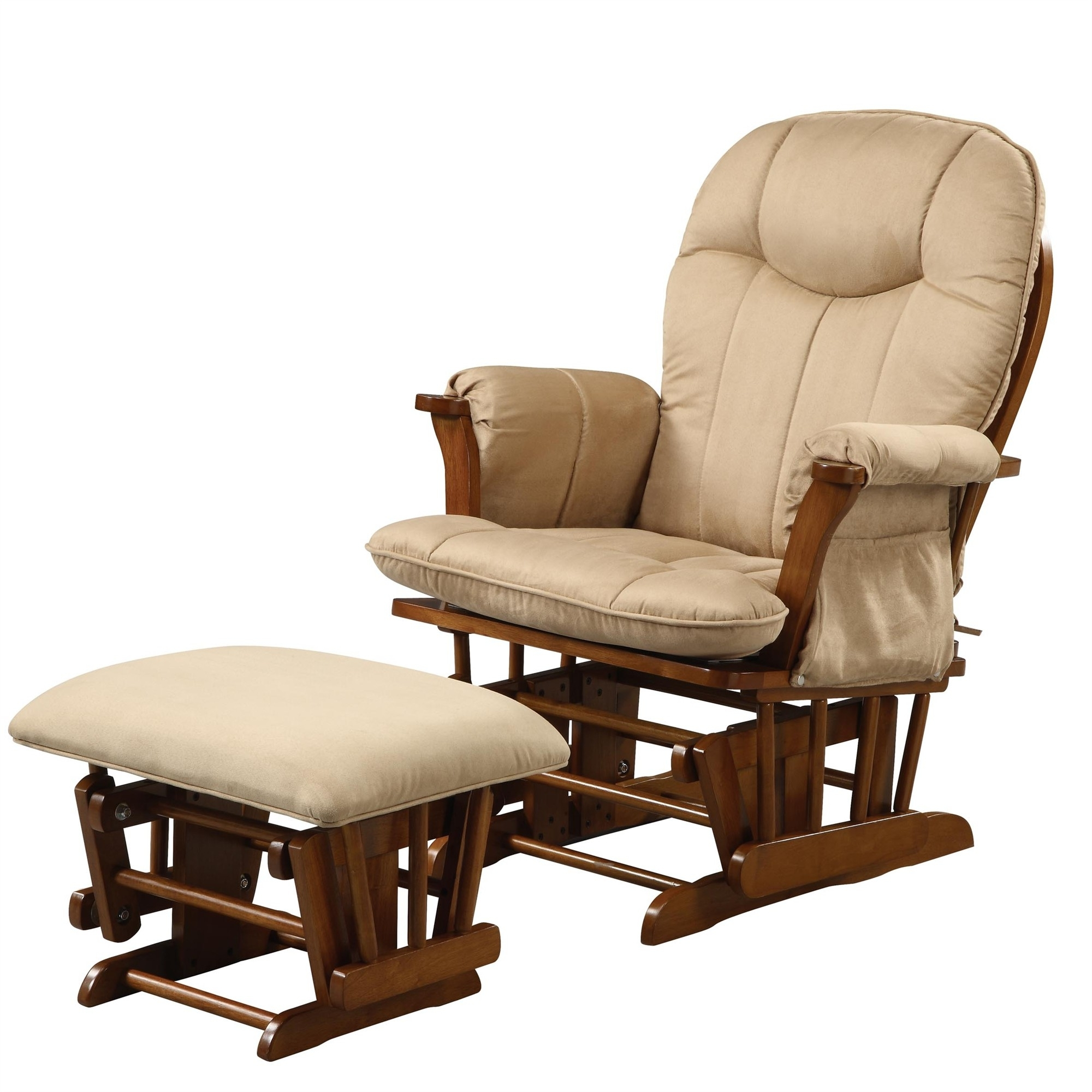 Ottoman: Perfect Shermag Glider Rocker And Ottoman On Home Designing Within Most Up To Date Rocking Chairs With Ottoman (View 10 of 20)