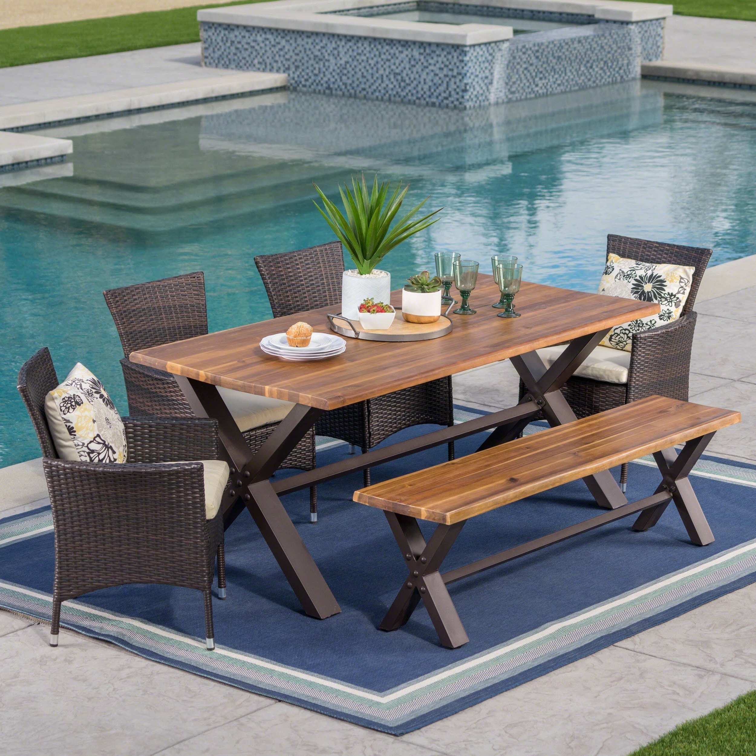 Our Best Patio Throughout Well Known Patio Conversation Sets With Dining Table (View 16 of 20)