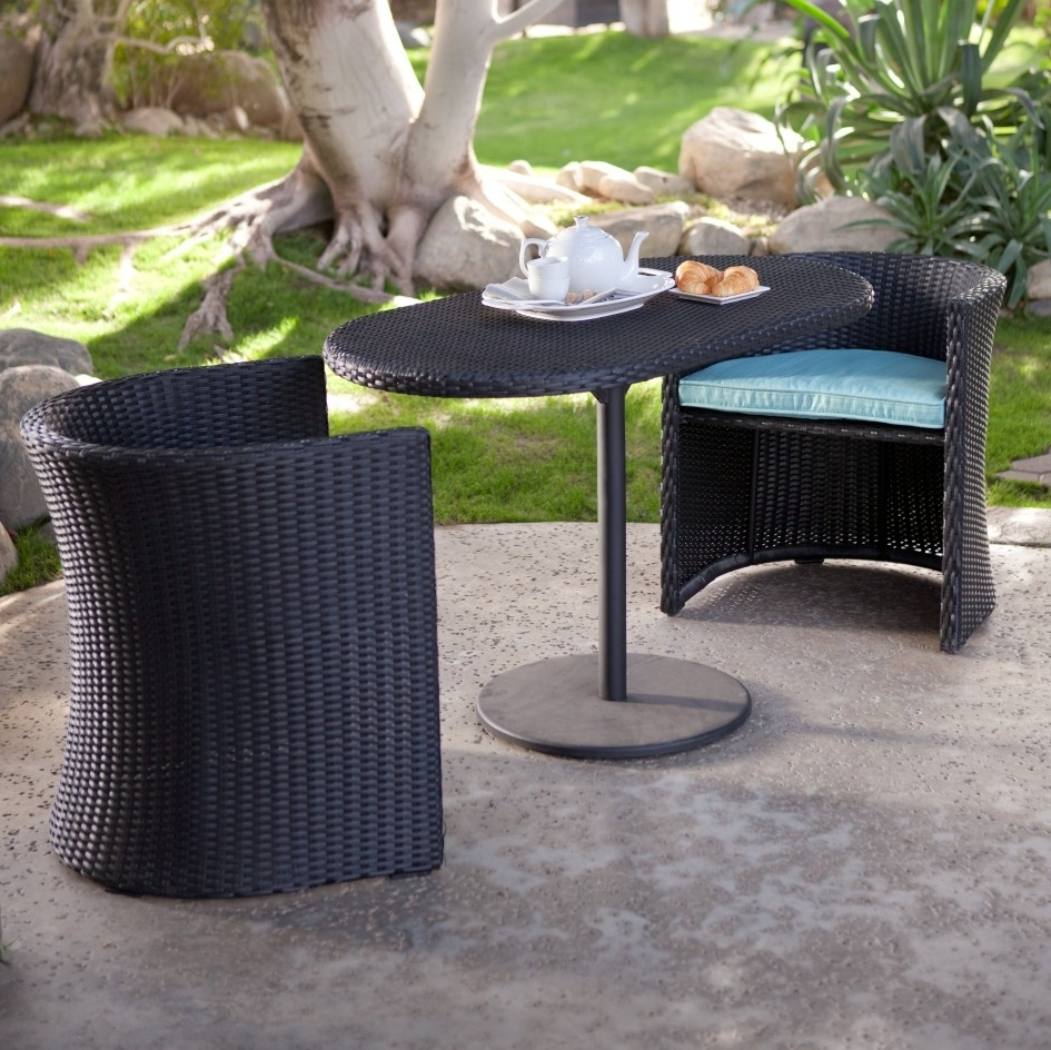 Outdoor Dining Sets For Small Spaces – Outdoor Designs Within 2018 Small Patio Conversation Sets (View 5 of 20)