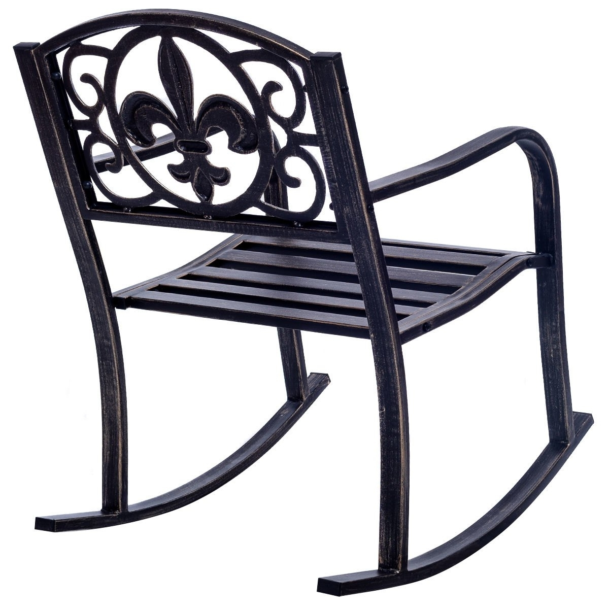 Outdoor Patio Metal Rocking Chairs Intended For 2018 Costway: Costway Patio Metal Rocking Chair Porch Seat Deck Outdoor (View 12 of 20)