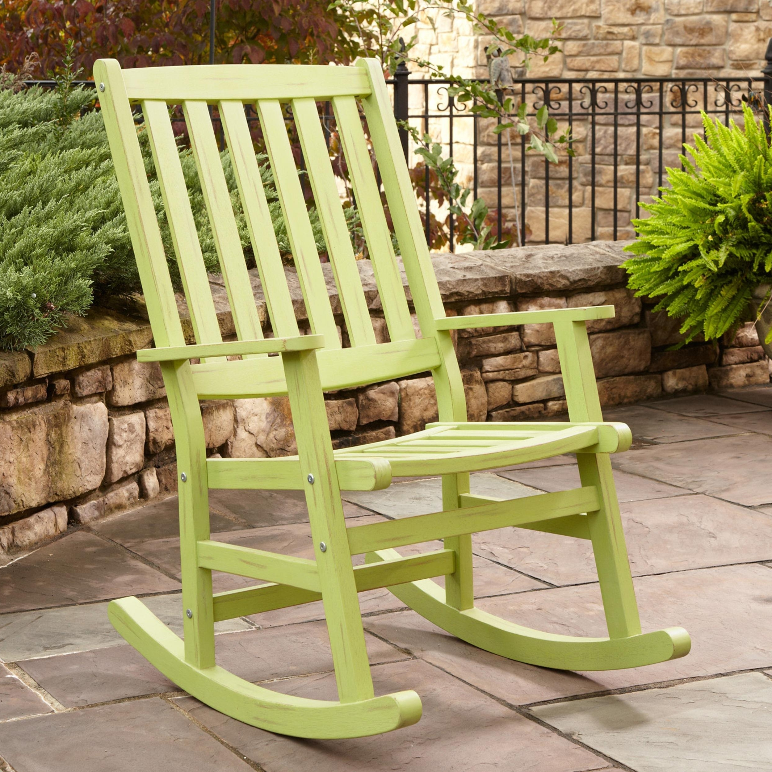 Outdoor Patio Metal Rocking Chairs Pertaining To 2019 Livingroom : Patio Dining Sets With Rocking Chairs Lowes Wicker (View 14 of 20)