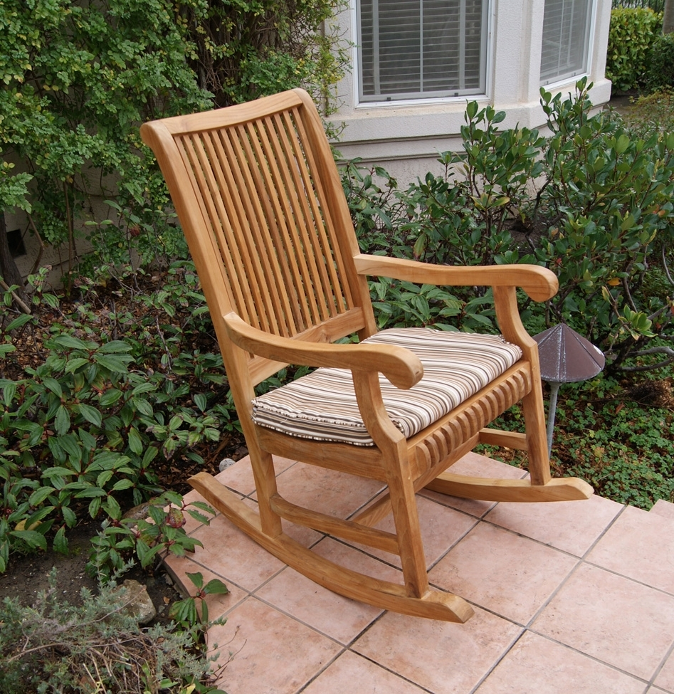 Outdoor Rocking Chair With Most Recent Teak Patio Rocking Chairs (View 10 of 20)