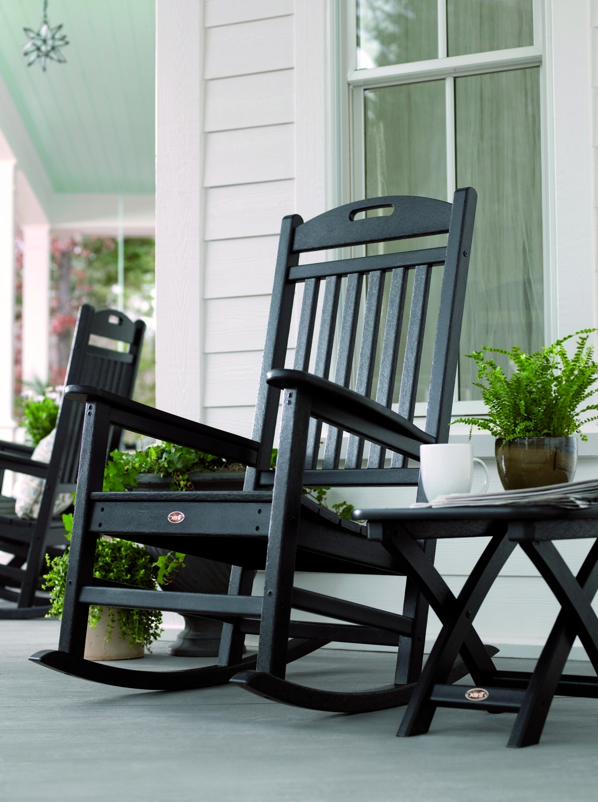 Outdoor Rocking Throughout Patio Rocking Chairs And Table (View 8 of 20)