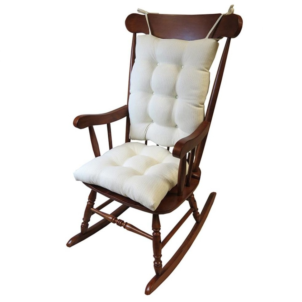 Outdoor Vinyl Rocking Chairs Within 2018 Cushion : Flash Furniture Hard Ivory Vinyl Chiavari Chair Cushion (View 14 of 20)