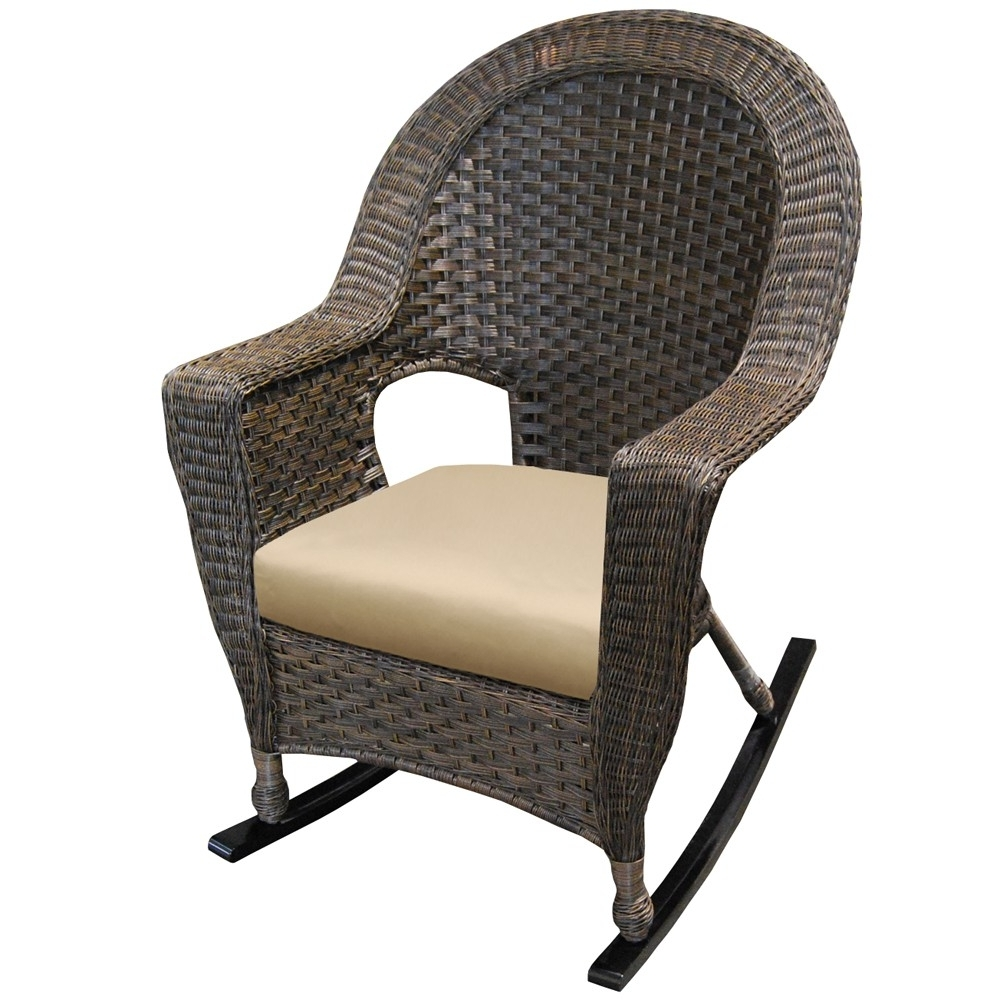 Outdoor Wicker Loveseat Wicker Patio Furniture Rocking Chair Pertaining To Resin Wicker Rocking Chairs (View 18 of 20)