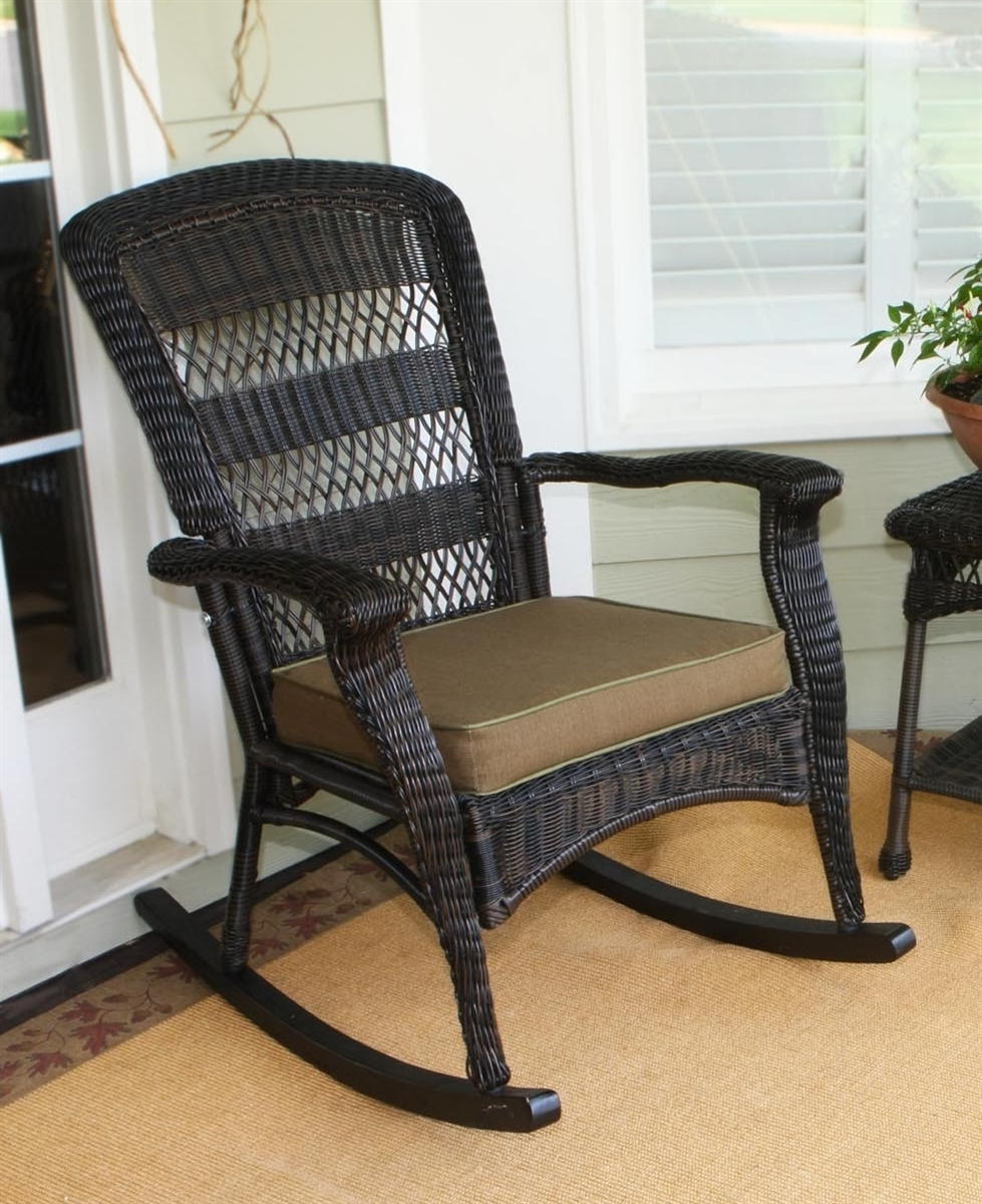 Outdoor Wicker Rockers Colorful Rocking Chair Resin Wicker (View 11 of 20)