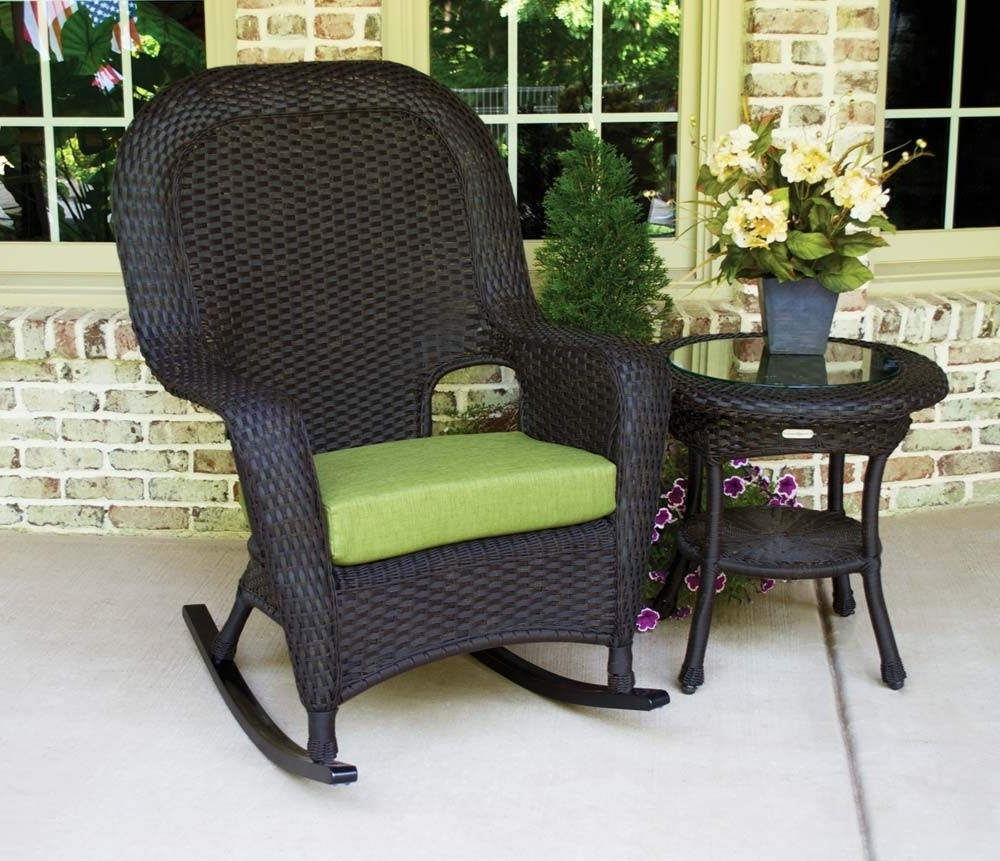 Outdoor Wicker Rocking Chairs Colors : Sathoud Decors – Cozy Outdoor With Regard To Famous All Weather Patio Rocking Chairs (View 4 of 20)