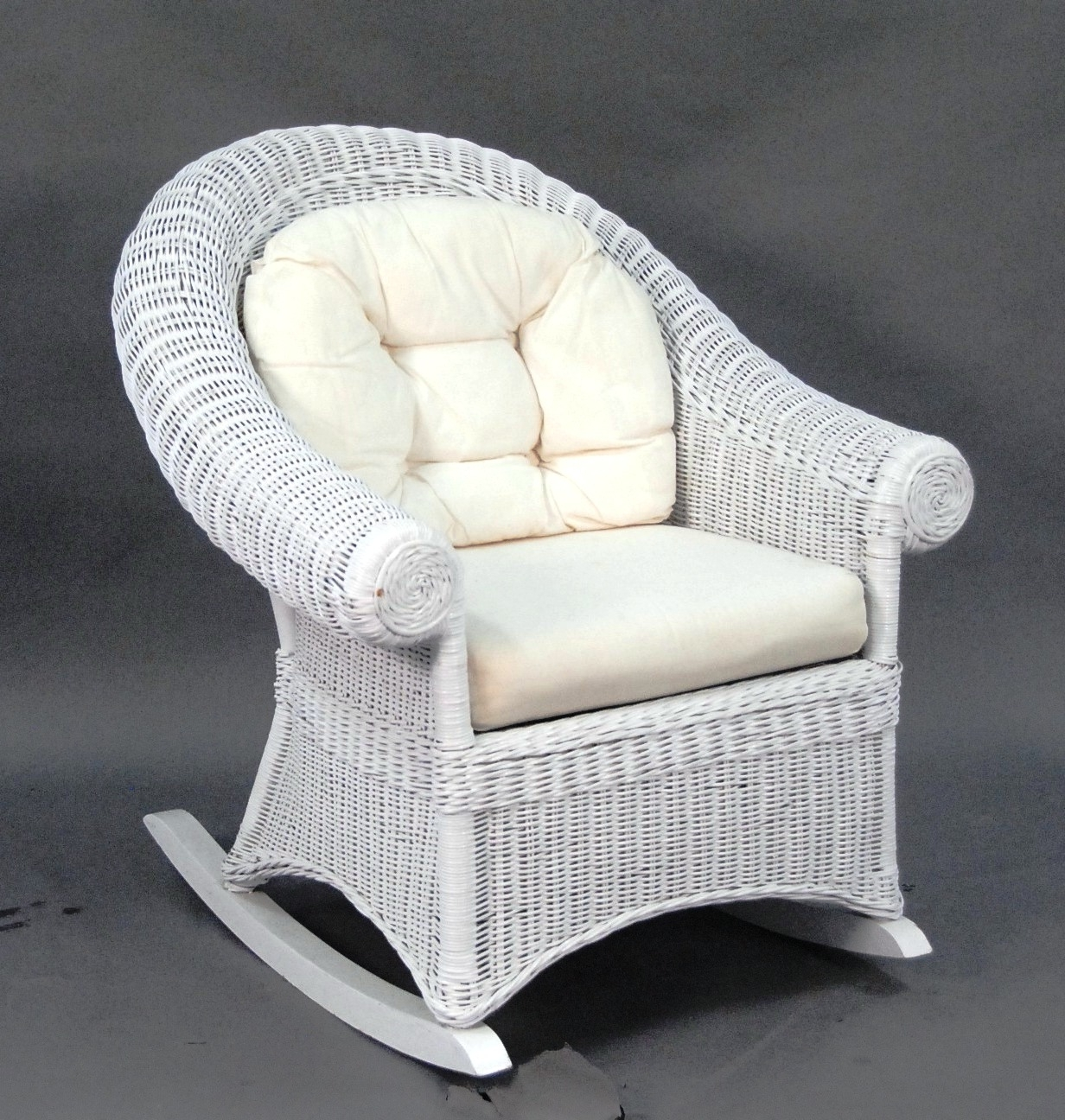 Outdoor Wicker Rocking Chairs In Well Known Terrific White Wicker Rocking Chair About Remodel Famous Chair (View 8 of 20)