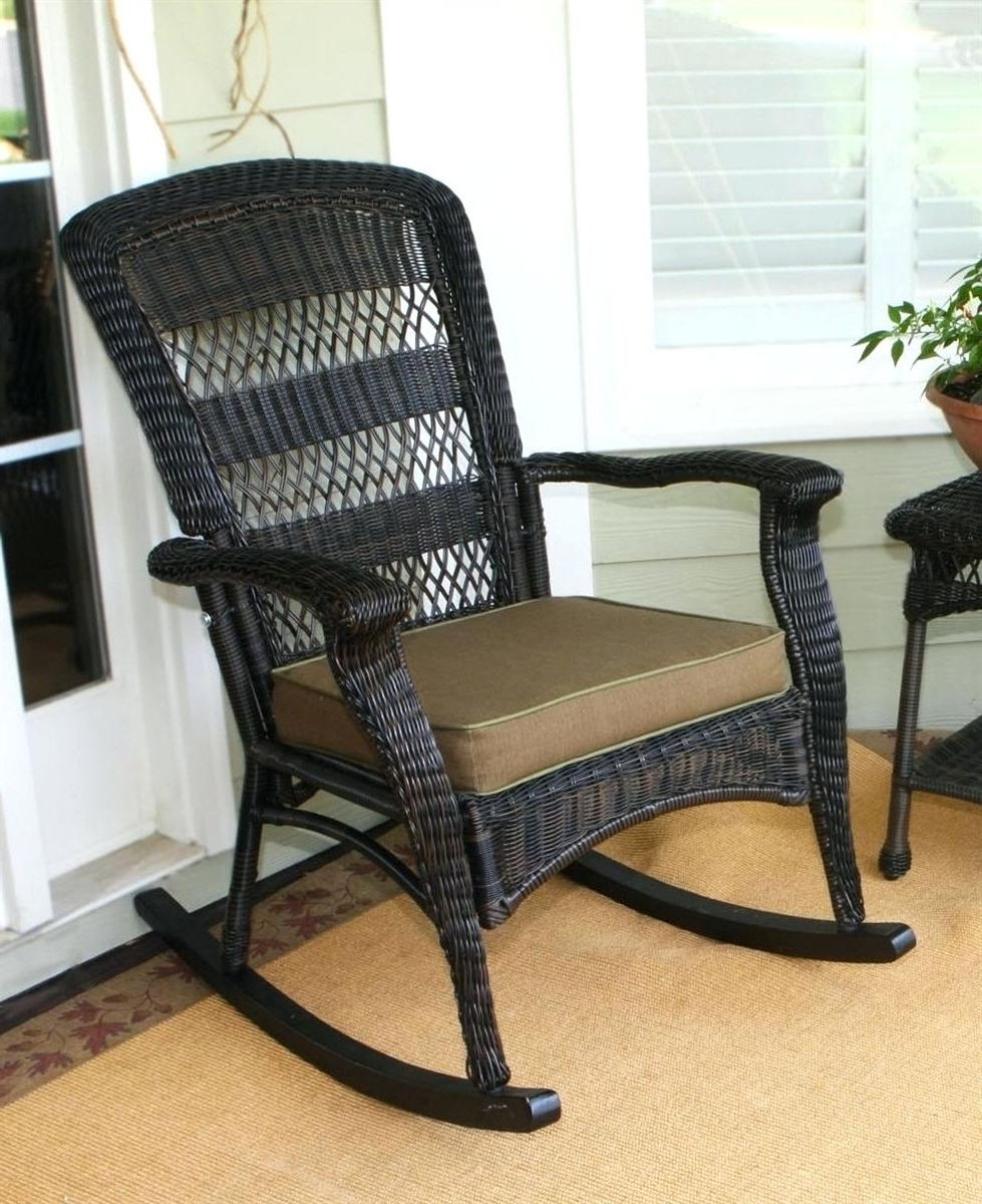 Outdoor Wicker Rocking Chairs Pertaining To Newest Outdoor Wicker Rocking Chairs Recliner Chair Interiors 21095rc All (View 11 of 20)