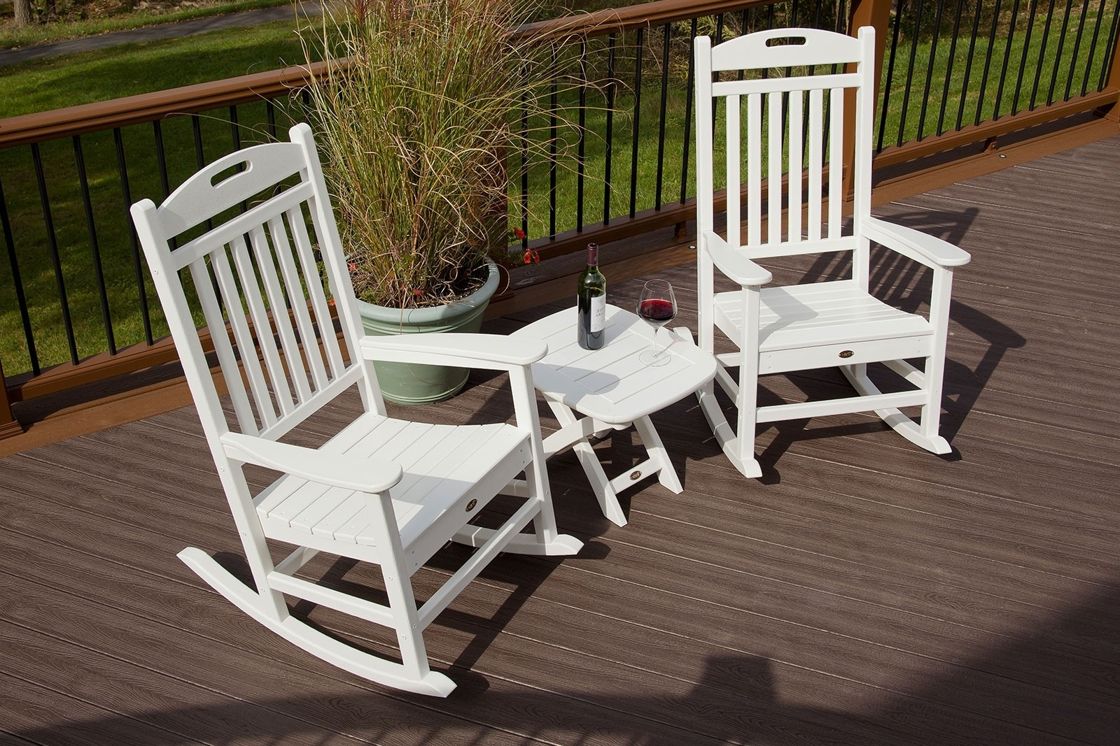 Outside Rocking Chair Sets Within Current Yacht Club Rocking Chair (View 16 of 20)