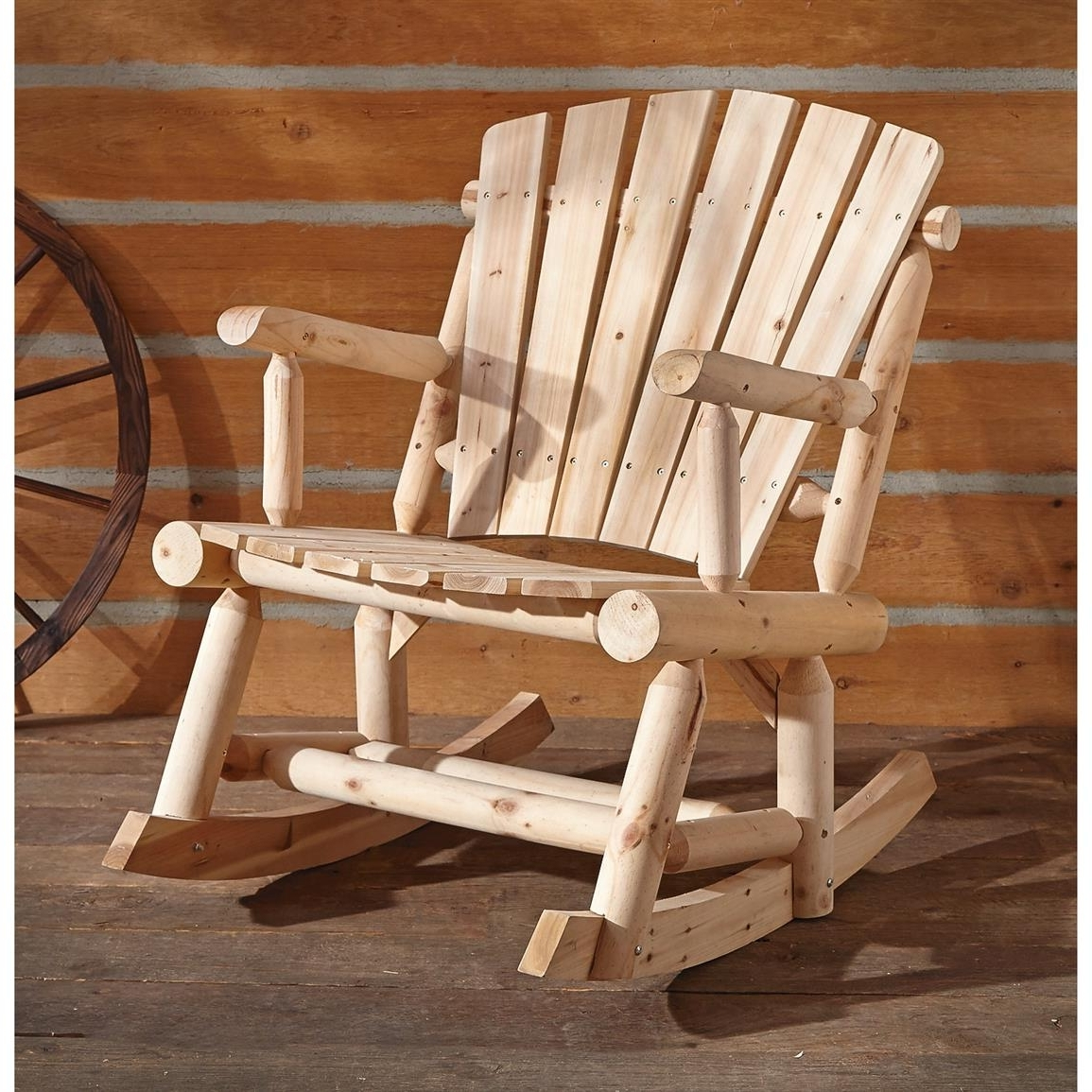 Oversized Patio Rocking Chairs Inside Well Known Castlecreek Oversized Adirondack Rocker – 657797, Patio Furniture At (View 12 of 20)