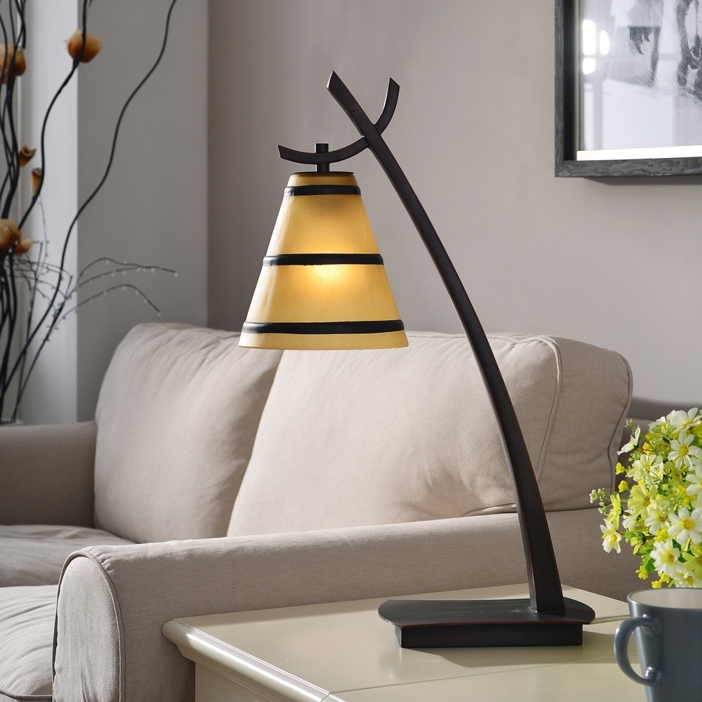 Overstock Living Room Table Lamps Inside Best And Newest Shop Design Craft Iommi Oil Rubbed Bronze 1 Light Table Lamp – Free (View 11 of 20)