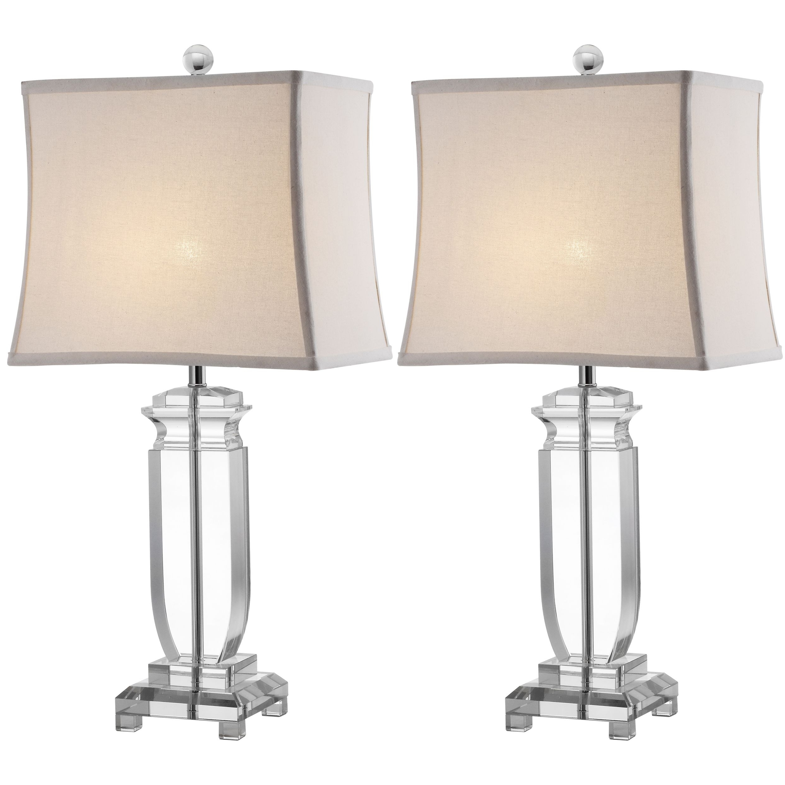 Overstock Living Room Table Lamps Pertaining To Popular Romantic, The Harp Shaped Crystal Base Of The Olympia Table Lamps (View 12 of 20)