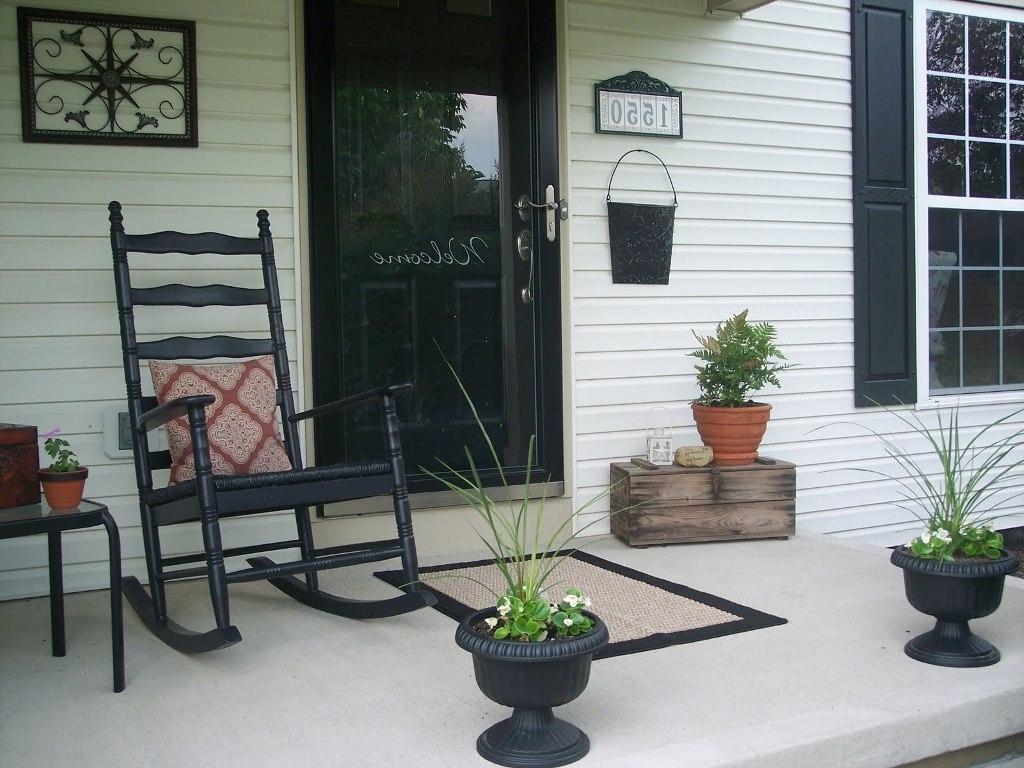 Painting Front Porch Rocking Chairs : Stylish Front Porch Rocking With Regard To Favorite Rocking Chairs For Front Porch (View 9 of 20)