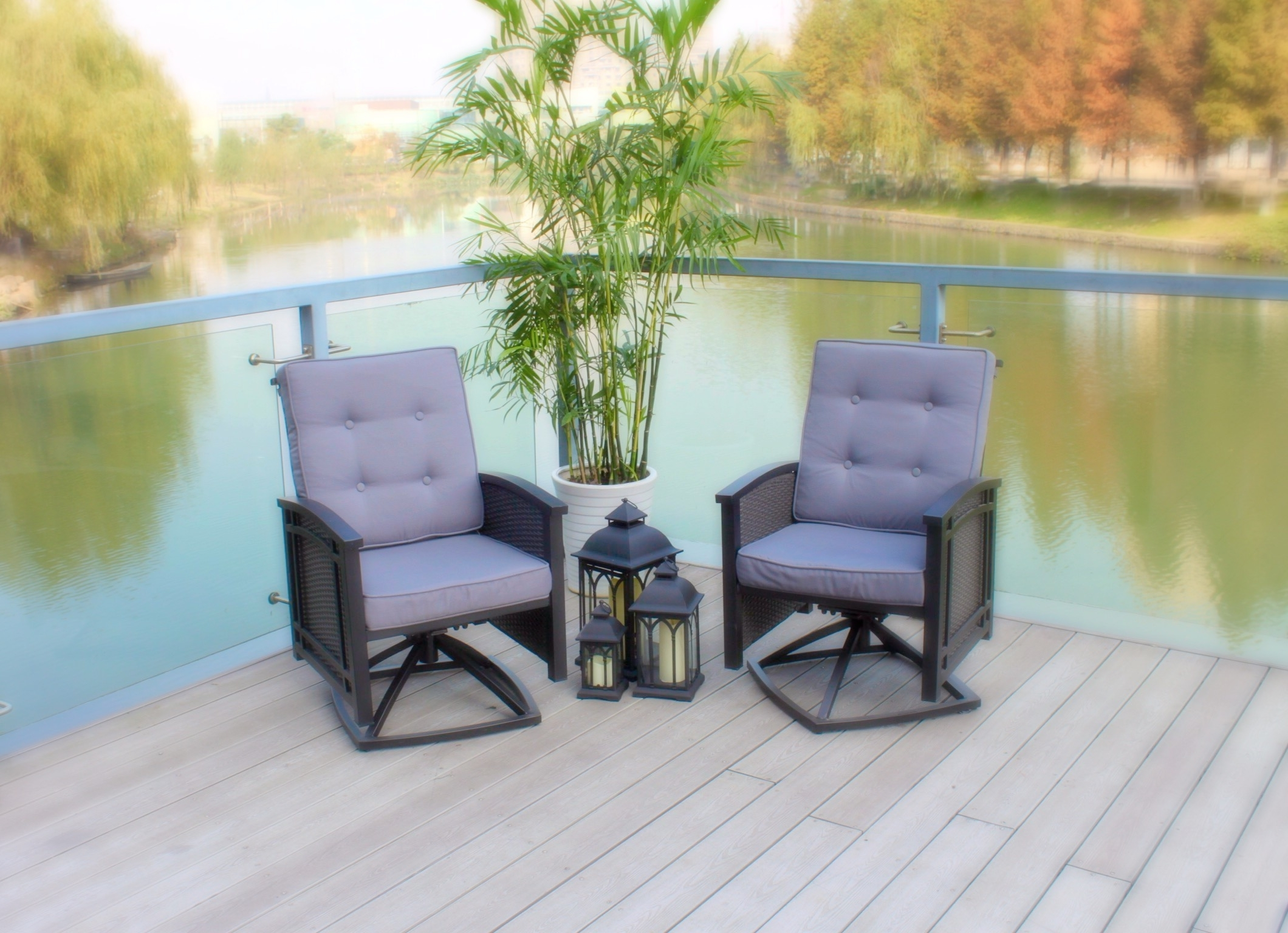 Palmetto Deep Seating Within 2019 Aluminum Patio Rocking Chairs (View 14 of 20)