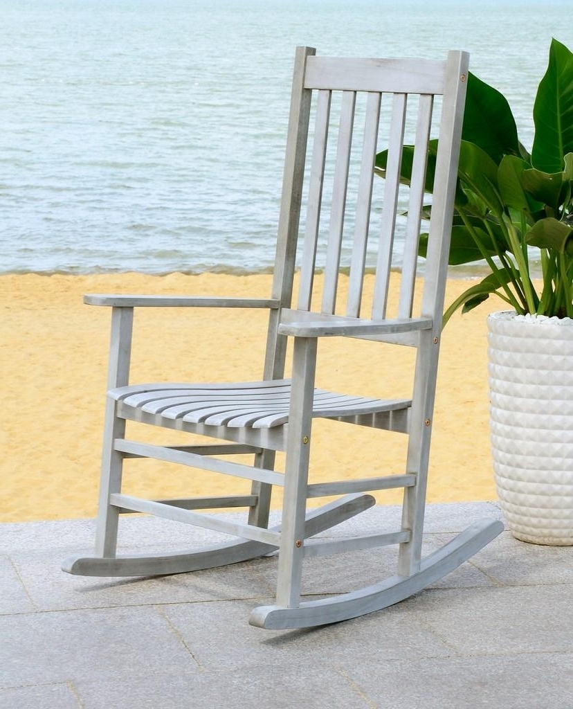 Pat7002B Outdoor Rocking Chairs, Rocking Chairs – Furnituresafavieh Within Most Up To Date Yellow Outdoor Rocking Chairs (View 10 of 20)