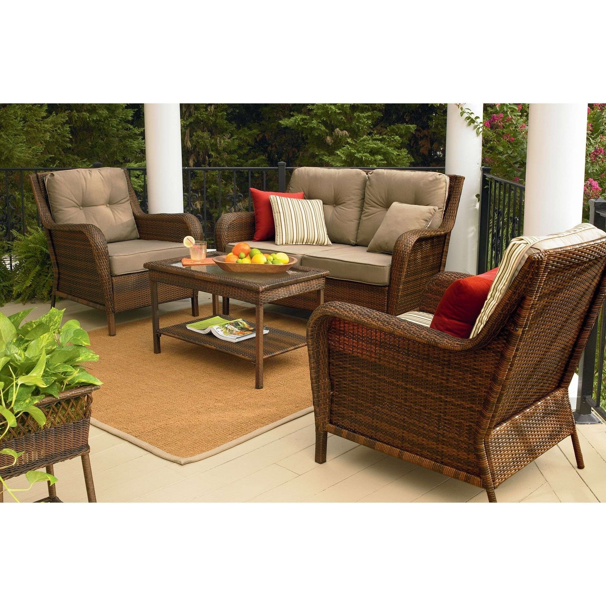 Patio Conversation Sets At Sears With Fashionable Sears Patio Furniture Comfortable Sears Wicker Furniture Sets Patio (View 16 of 20)