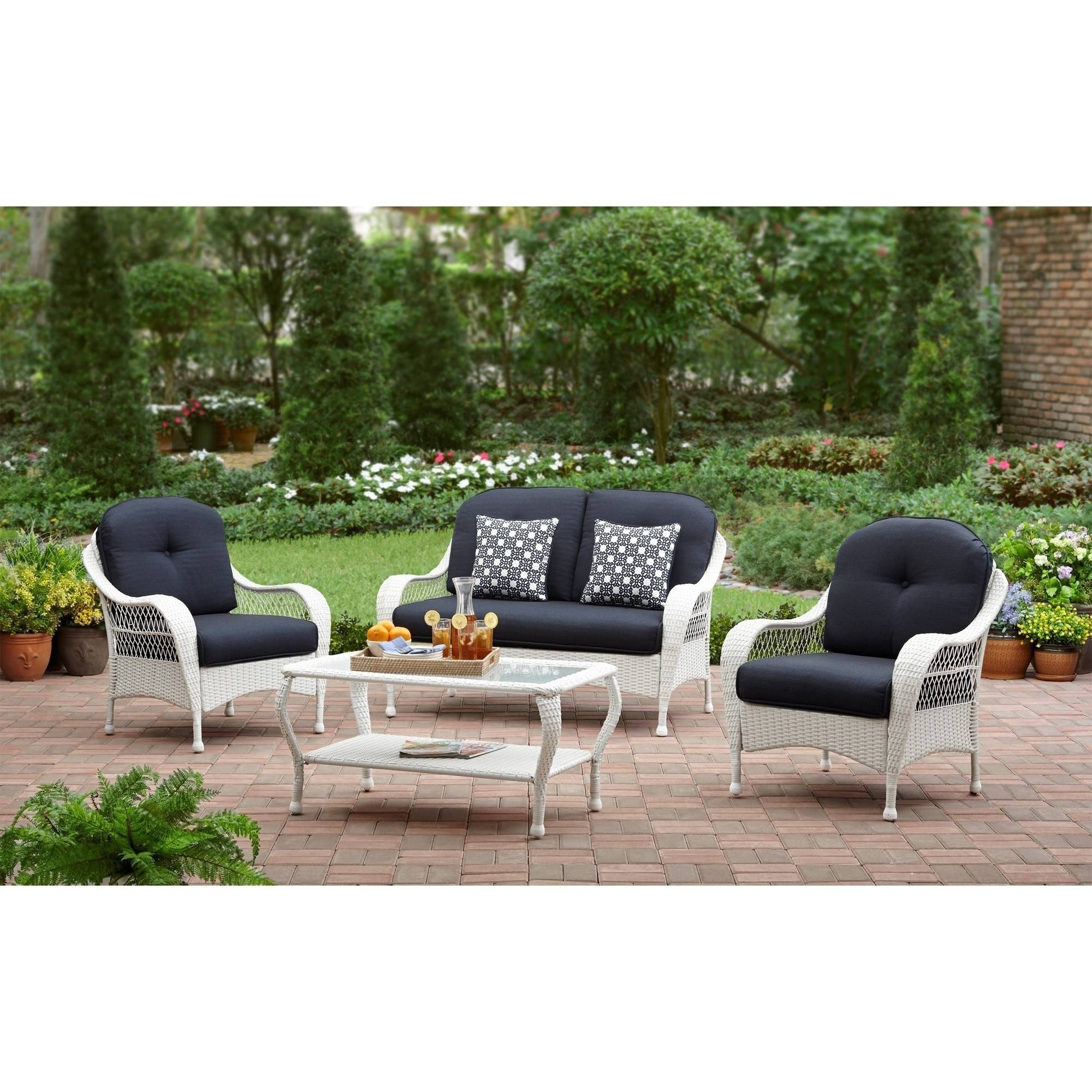 Patio Conversation Sets At Walmart For Fashionable Better Homes And Gardens Azalea Ridge Outdoor Patio Conversation Set (View 11 of 20)