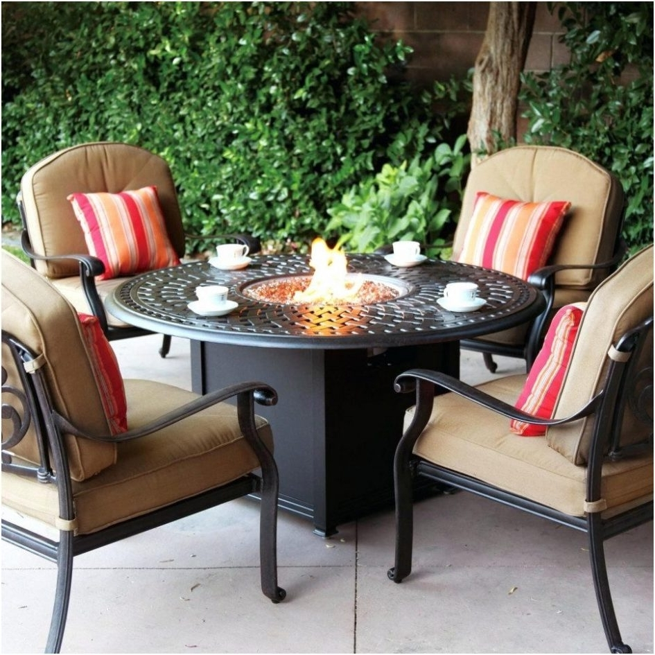 Patio Conversation Sets For Small Spaces For Newest Marvelous Patio Conversation Sets With Fire Pit F75x On Creative (View 8 of 20)