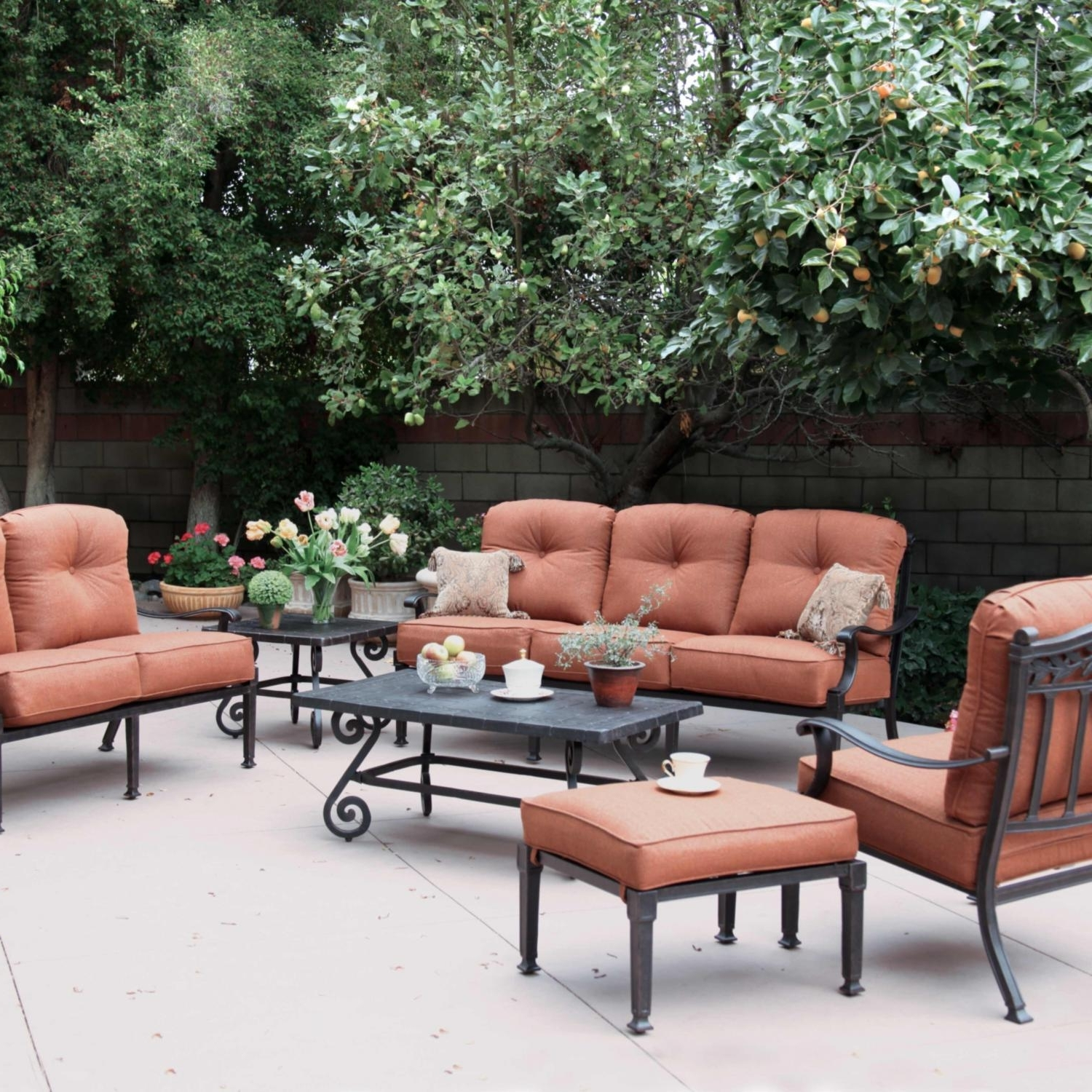 Patio Conversation Sets For Small Spaces In 2019 Metal Patio Conversation Sets For Small Spaces Cast Aluminum — The (View 8 of 20)