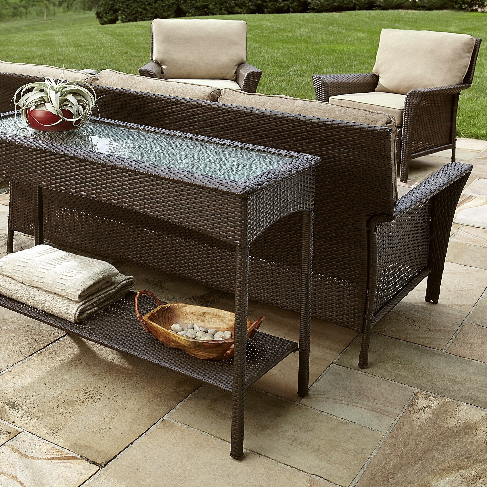 Patio Conversation Sets For Small Spaces Throughout Most Up To Date Spin Prod Outdoor Console Tables Ty Pennington Style Parkside Table (View 13 of 20)