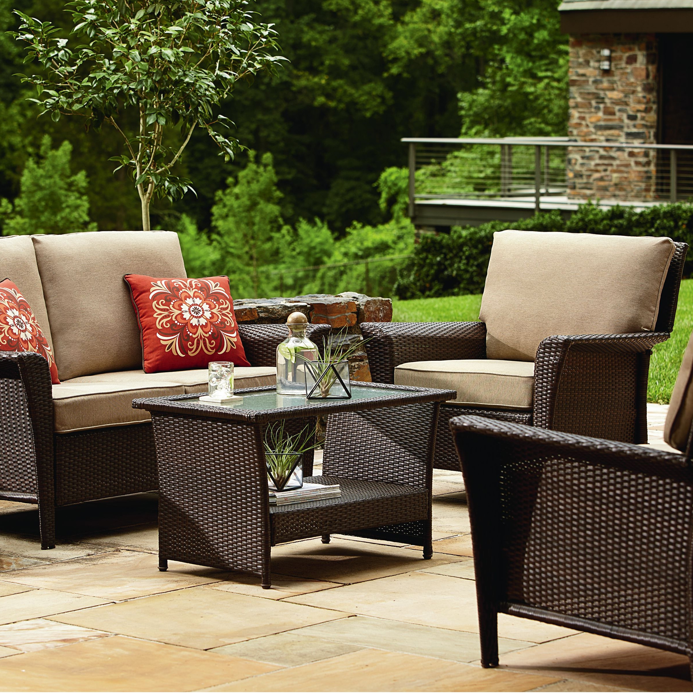 Patio Conversation Sets For Small Spaces With Recent Awesome Sears Patio Table View With Family Room Small Room Sears (View 13 of 20)