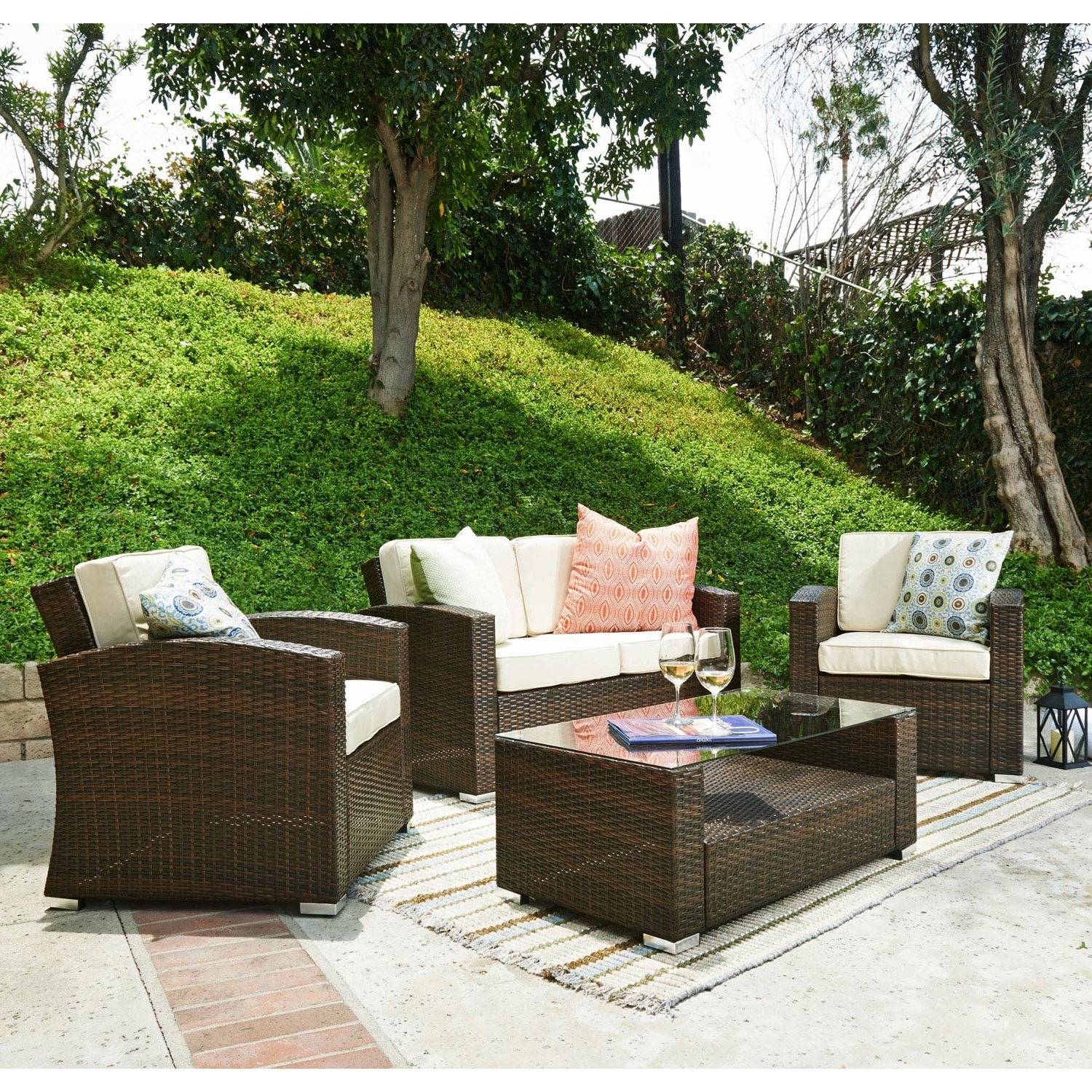 Patio Conversation Sets Under 200 With Regard To Most Current Cheap Patio Furniture Sets Under 200 Tags : Outdoor Wicker (View 5 of 20)