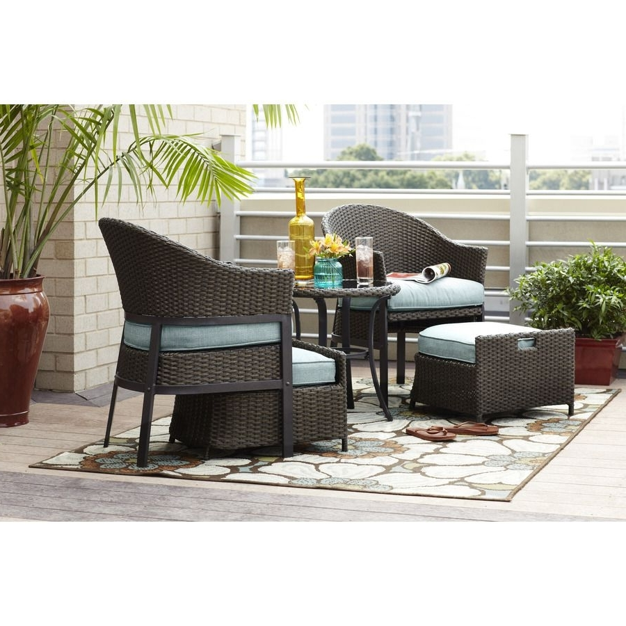 Patio Conversation Sets Under $400 With Regard To Preferred Front Porch Set $400/lowe's—Great Idea! But Re Create With Cheaper (View 14 of 20)