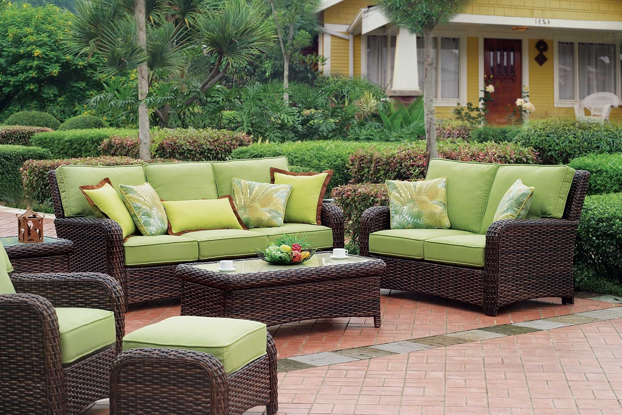 Patio Conversation Sets With Cushions Inside Well Liked Patio Living Room Sets – Kemist.orbitalshow (View 13 of 20)