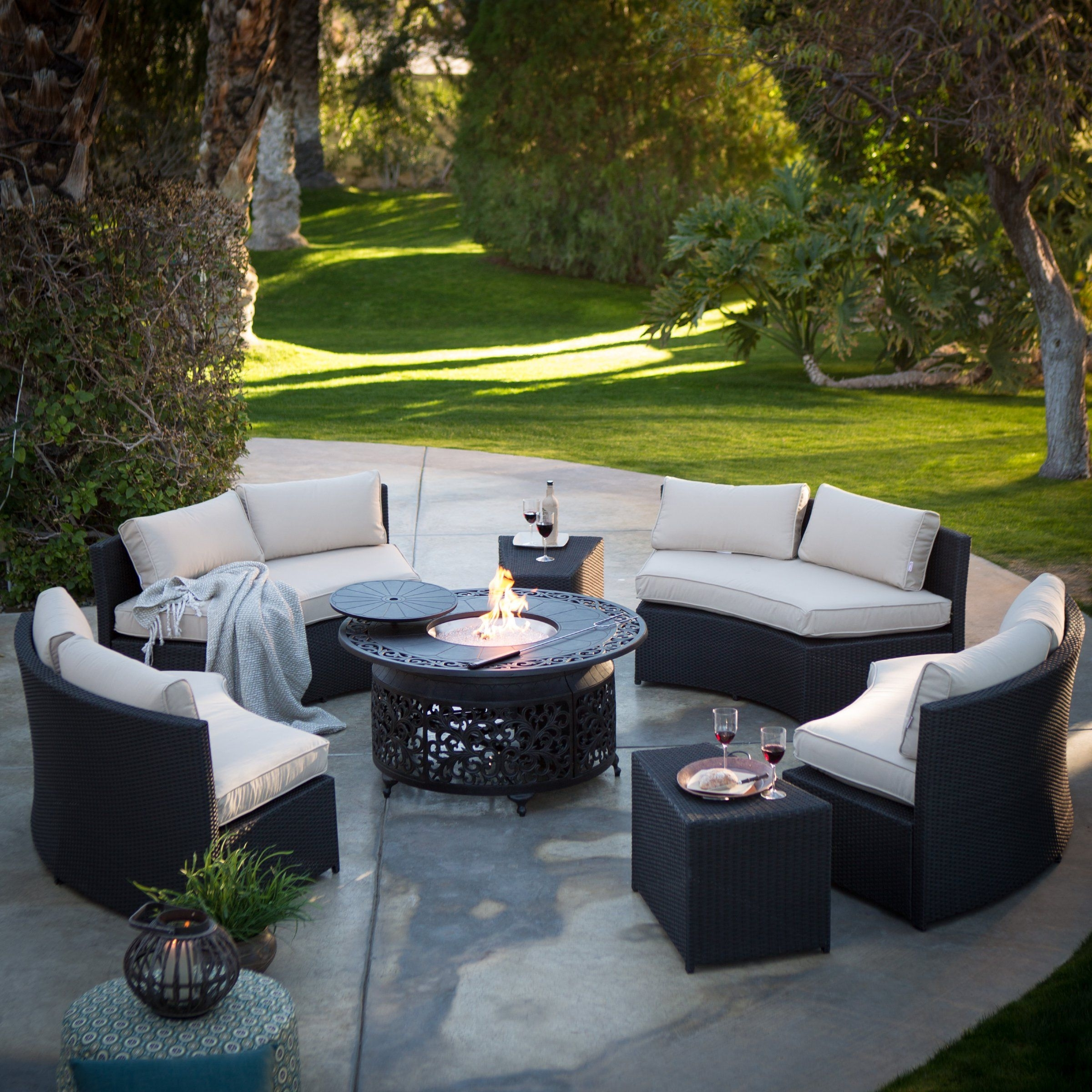 Patio Conversation Sets With Fire Pit Intended For Newest Radiate Warm Fun With Friends And Family Whenever You Gather! This (View 1 of 20)