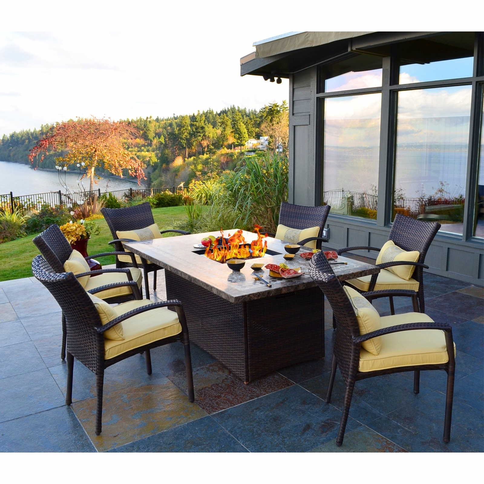 Patio Conversation Sets With Fire Table Throughout Well Known Patio Dining Table With Fire Pit Lovely Conversation Sets Fire Pit (View 13 of 20)