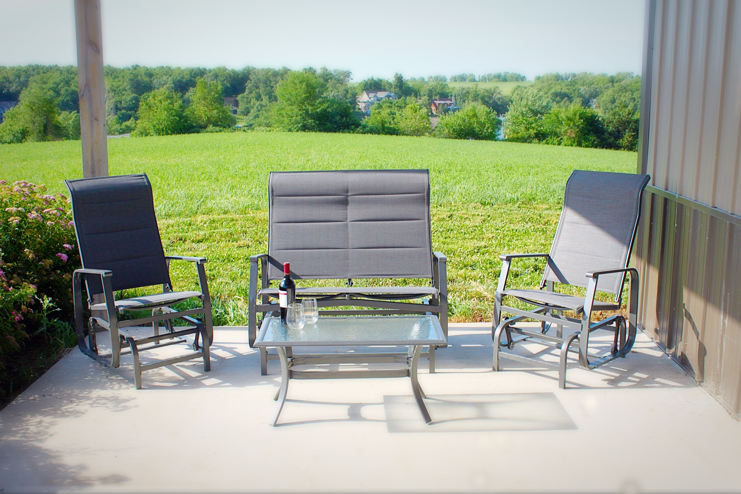 Patio Conversation Sets With Glider In Preferred Pebble Lane Living (View 20 of 20)
