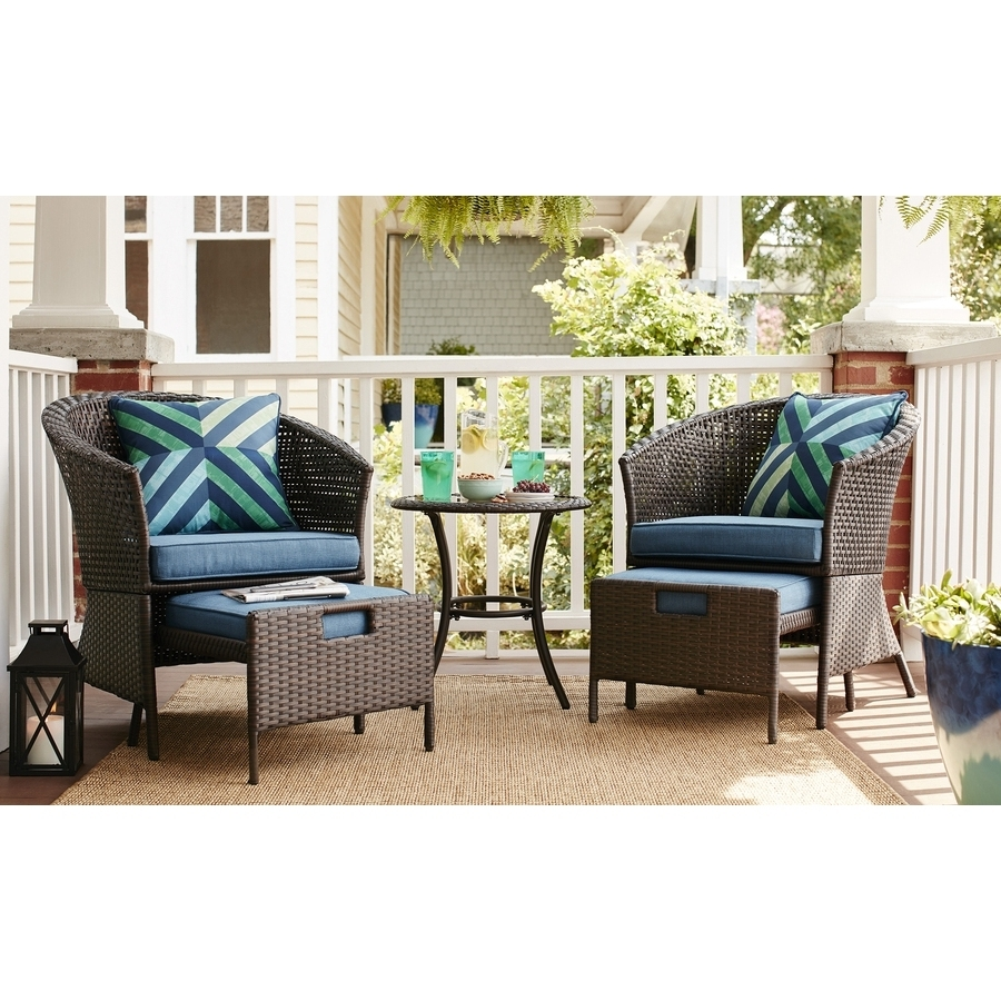 Patio Conversation Sets With Ottoman In Well Known Walmart Patio Furniture Niko Patio Furniture 5 Piece Patio Dining (View 9 of 20)