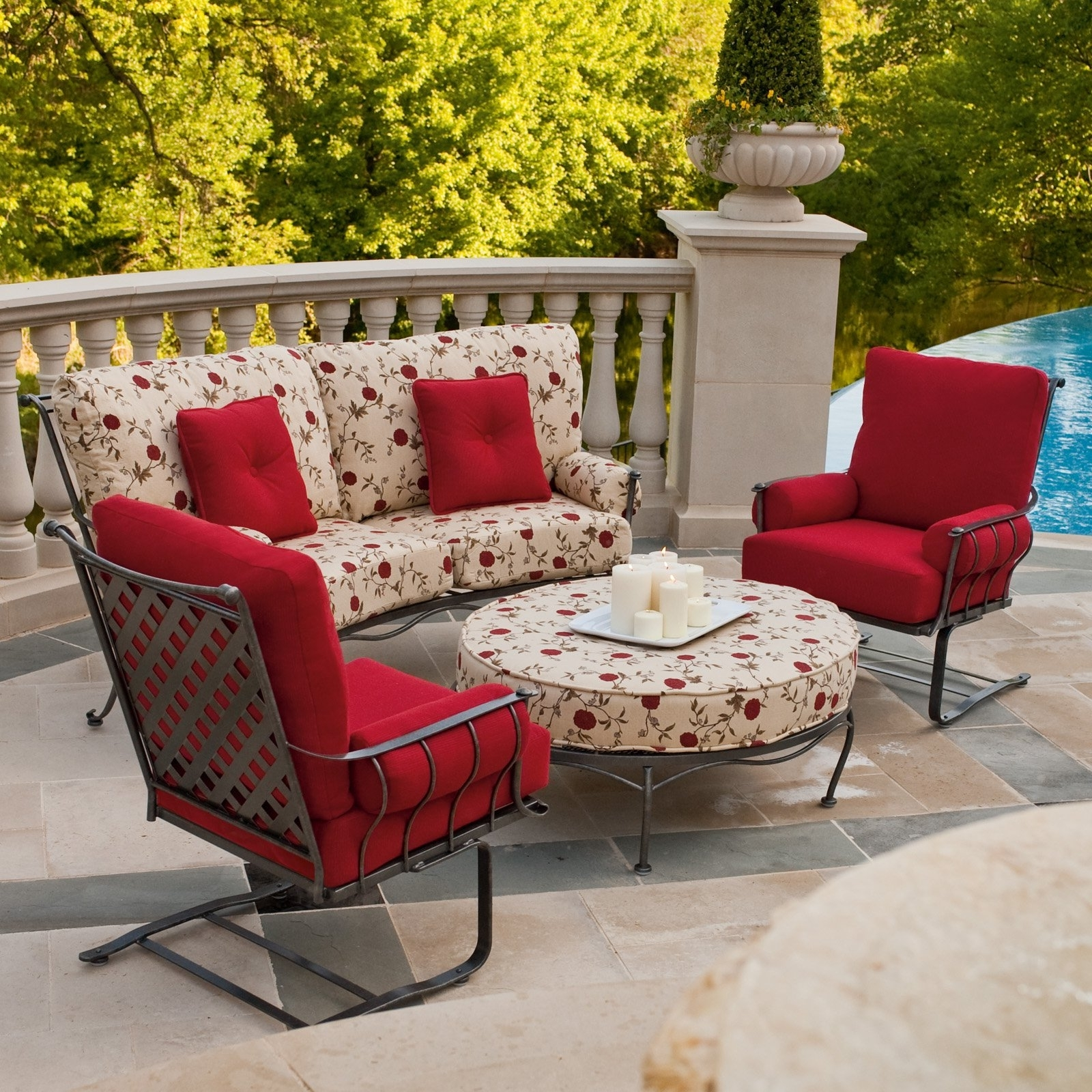 Patio Conversation Sets With Ottomans With Regard To Well Known Outdoor Chair And Ottoman Set Beautiful Patio Conversation Sets With (View 13 of 20)