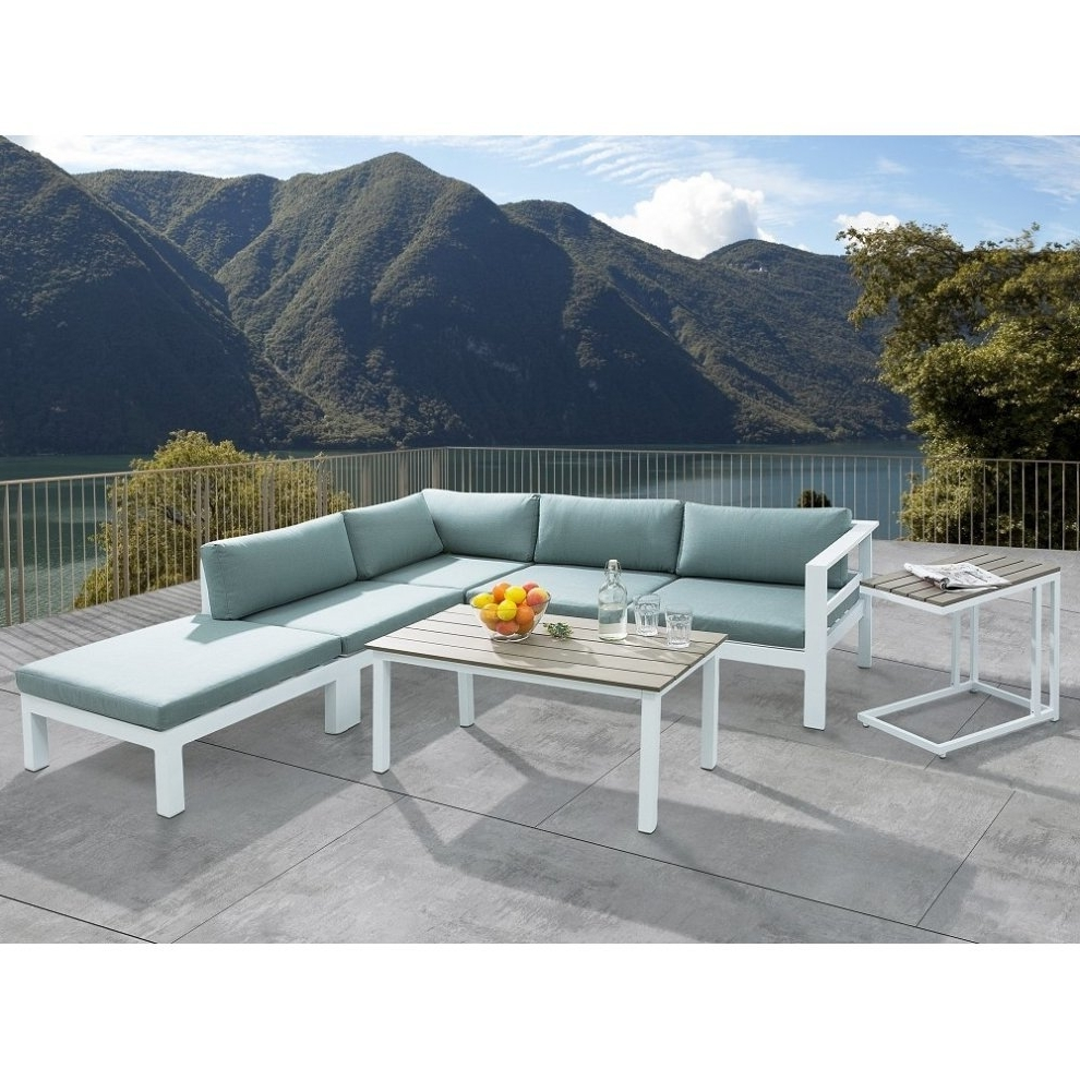 Patio Conversation Sets With Ottomans Within Well Liked Sectional Outdoor Sofa Set – 5  Piece Patio Conversation Set With (View 15 of 20)