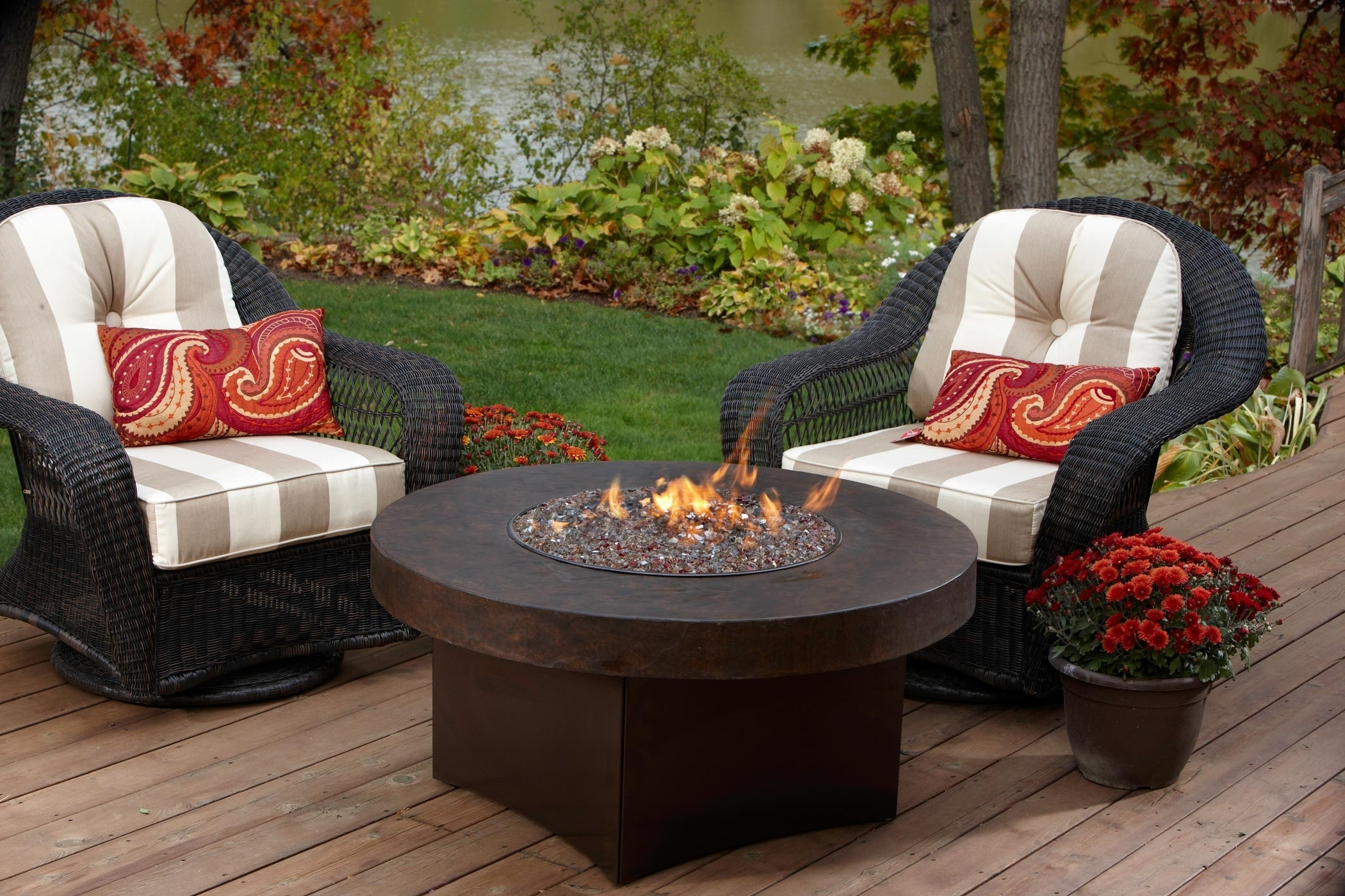 Patio Conversation Sets With Propane Fire Pit For Most Current Fundamentals Patio Table With Gas Fire Pit Give The Warmth In (View 12 of 20)