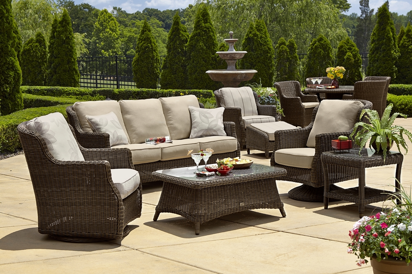 Patio Conversation Sets With Swivel Chairs In Current Cute Resin Wicker Furniture 12 Lovely Patio Clearance Ideas Picture (View 12 of 20)